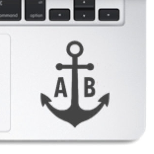 Custom anchor decal - $3.00+