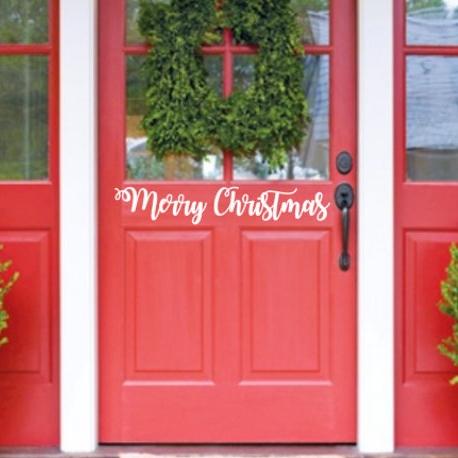 christmas door decal - $9.00