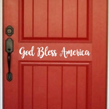 4th of july door decal - $9.50