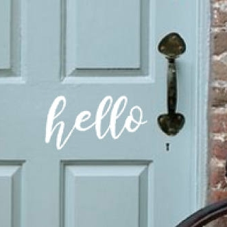 hello door decal - $6.00