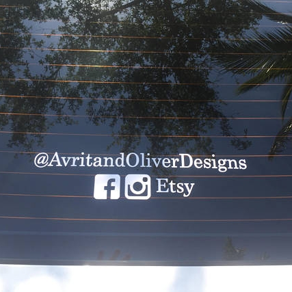 promotional car decal - $5.50+