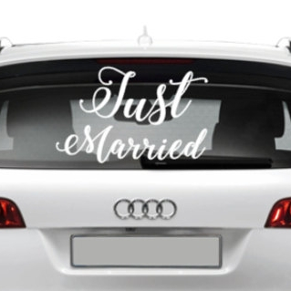 Just married car decal - $8.00