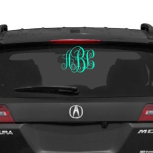 monogram car decal - $3.00+
