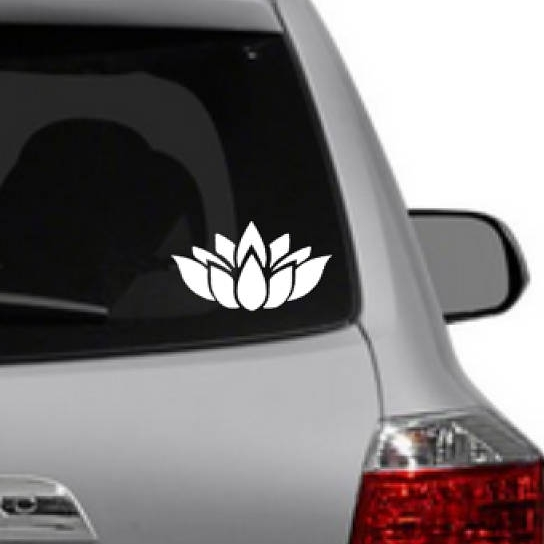lotus flower car decal - $2.50+