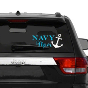 Navy Mom car decal - $3.00+