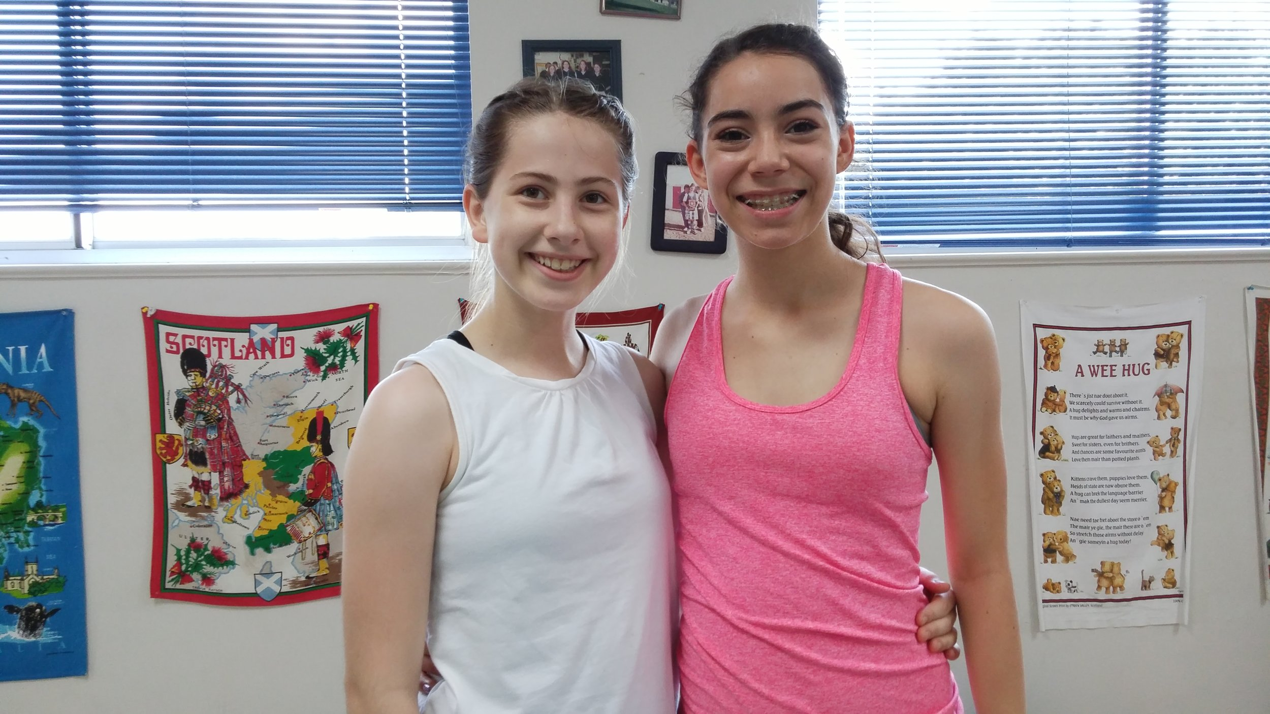 Mary and Sophia at the Balmoral workshop in Houston Texas
