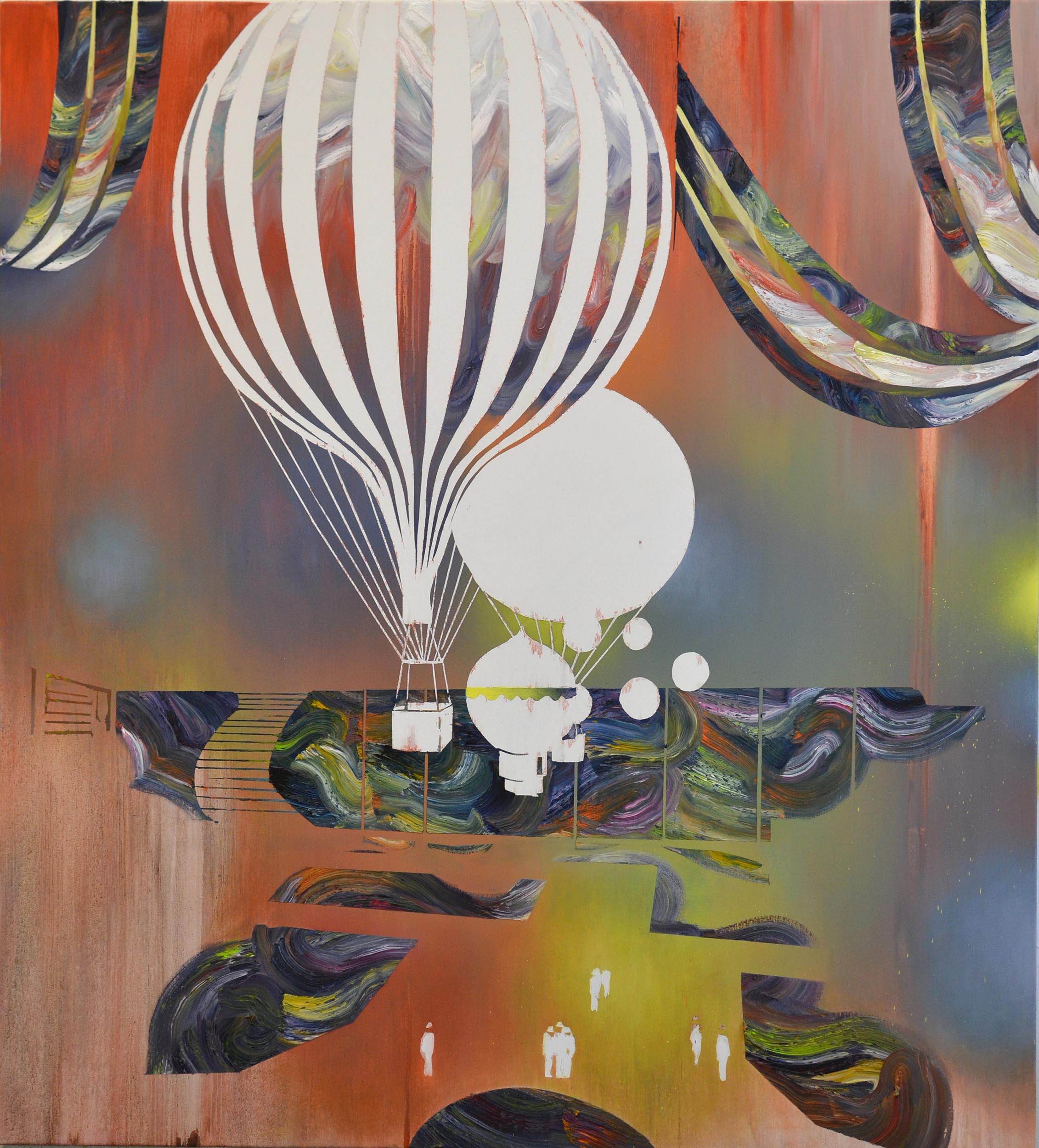 Ballon  oil on canvas 160 x 140 cm, 2013