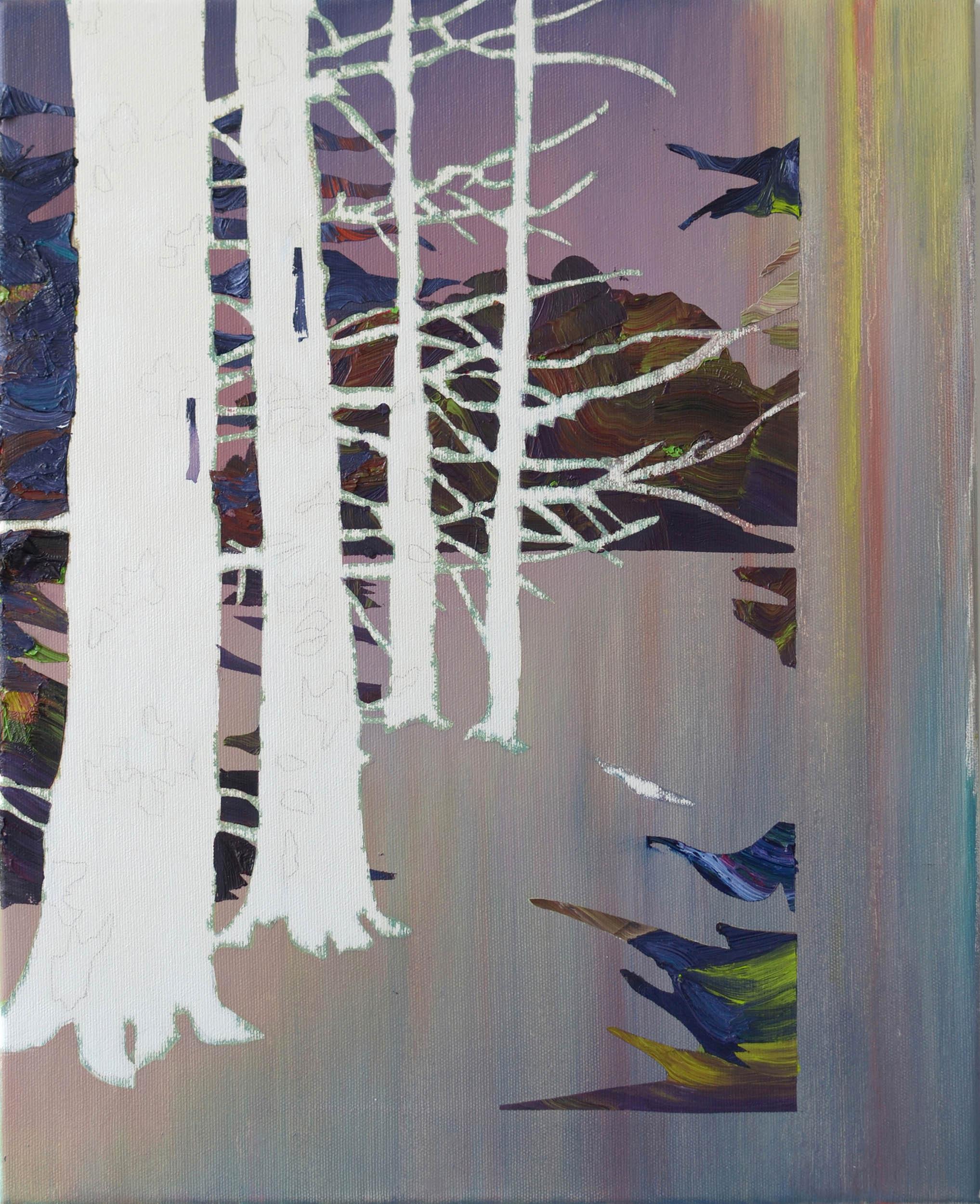 Gehölz  oil on canvas 50 x 40 cm, 2012