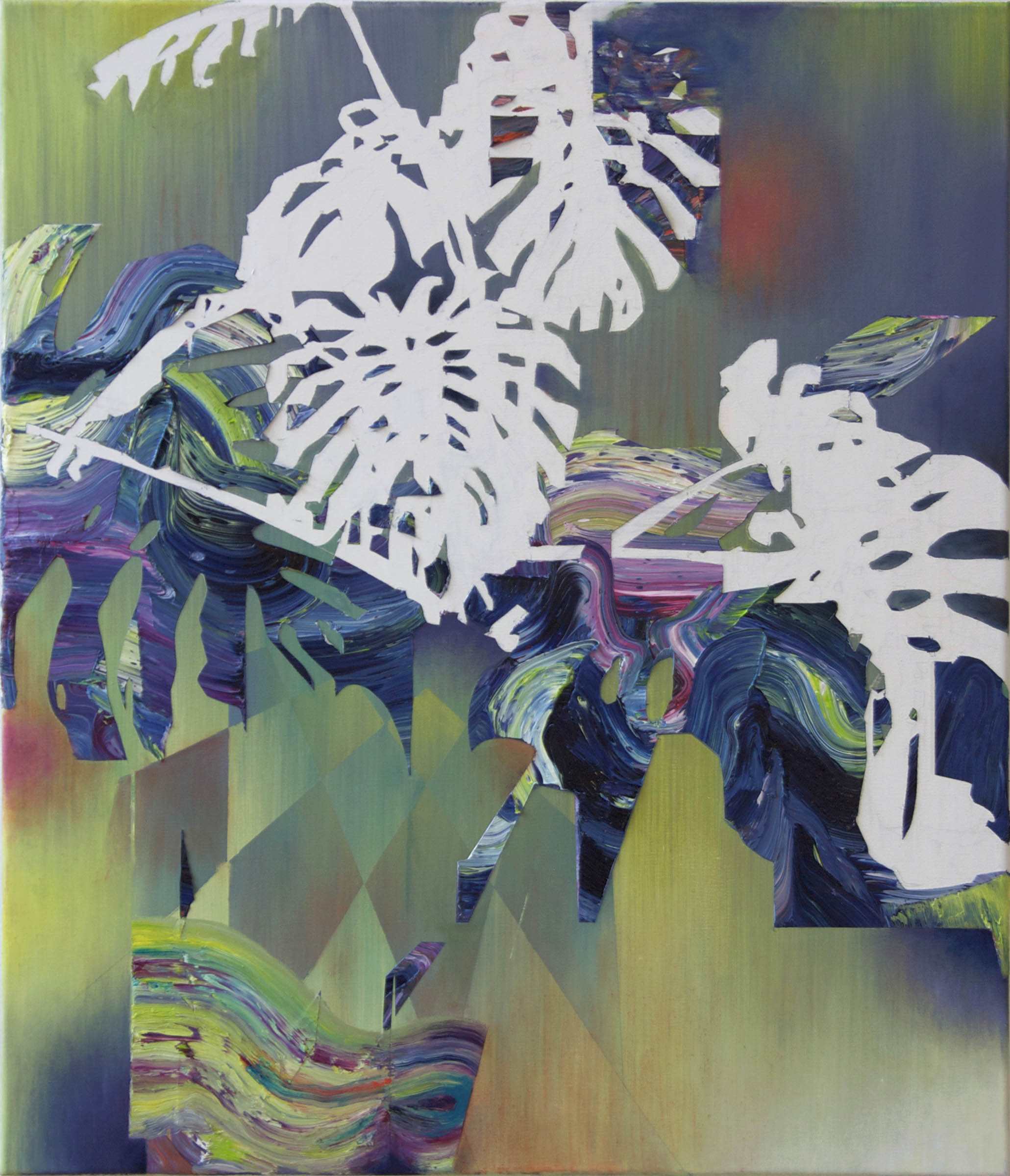 Philodendron  oil on canvas 100 x 80 cm, 2010