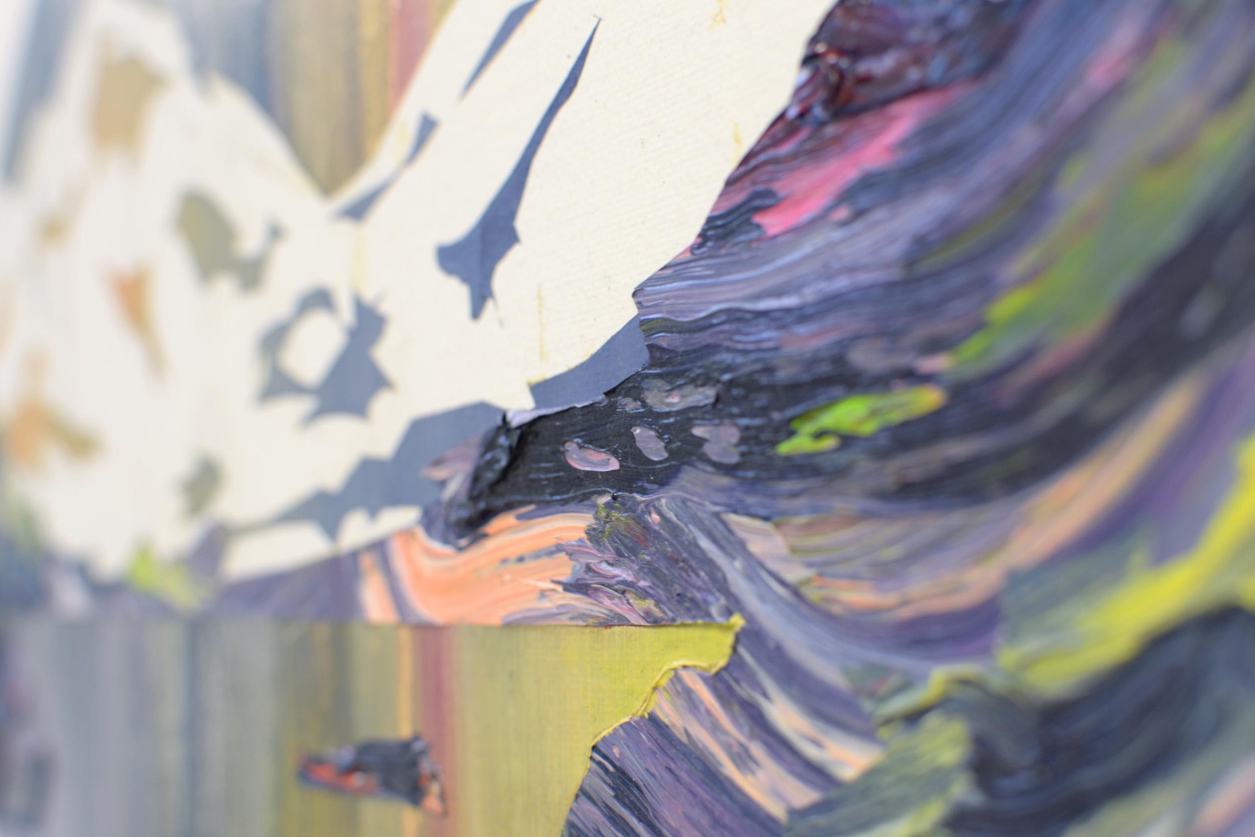 Alpinism XI (Detail)  oil on cardboard 30 x 40 cm, 2013