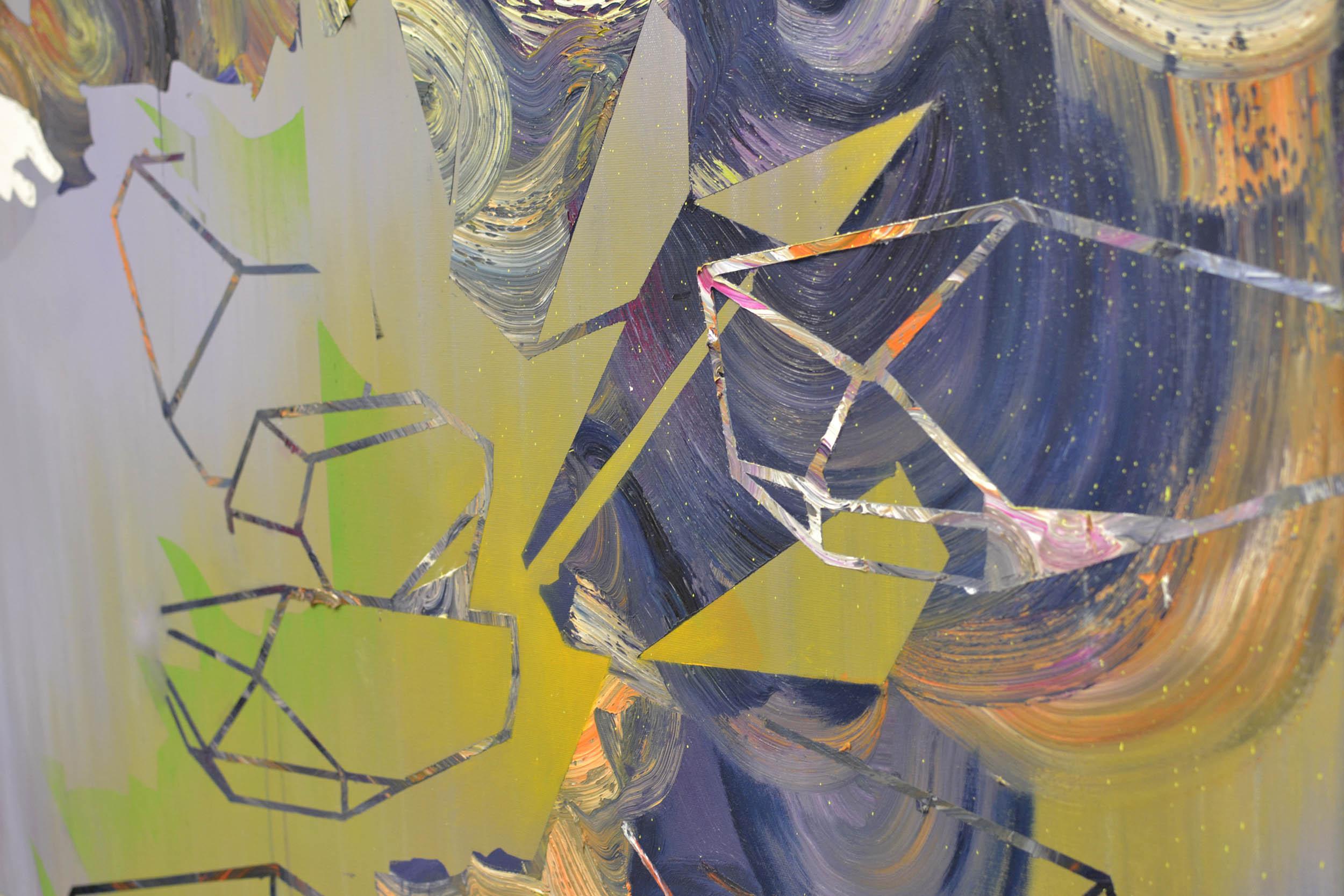 Hornträger (Detail)  oil on canvas 165 x 200 cm, 2013