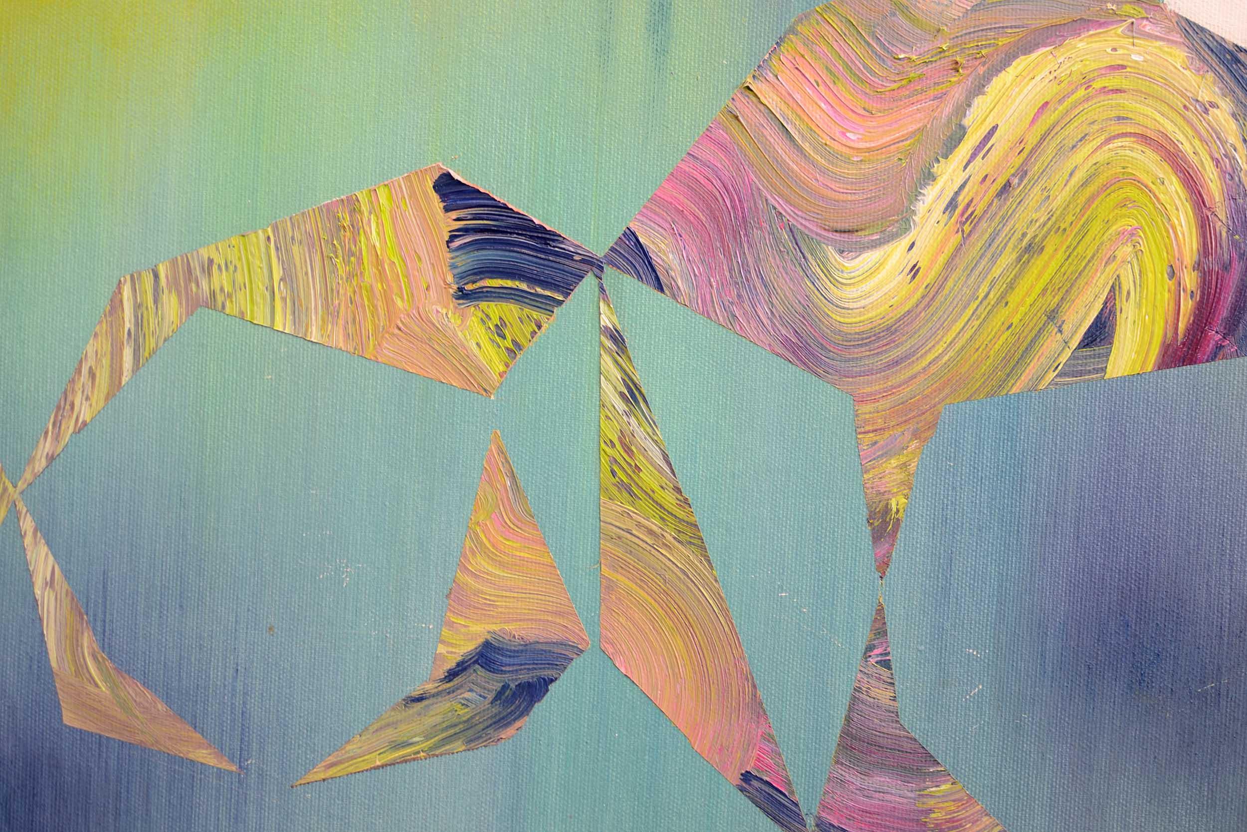 Am Limit (Detail)  oil on canvas 150 x 120 cm, 2014