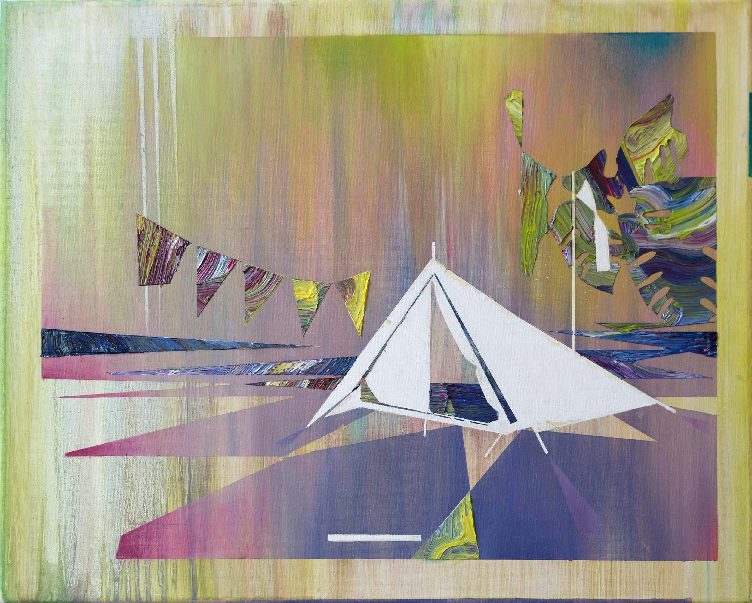 At the Campsite I  oil on canvas 40 x 50 cm, 2011