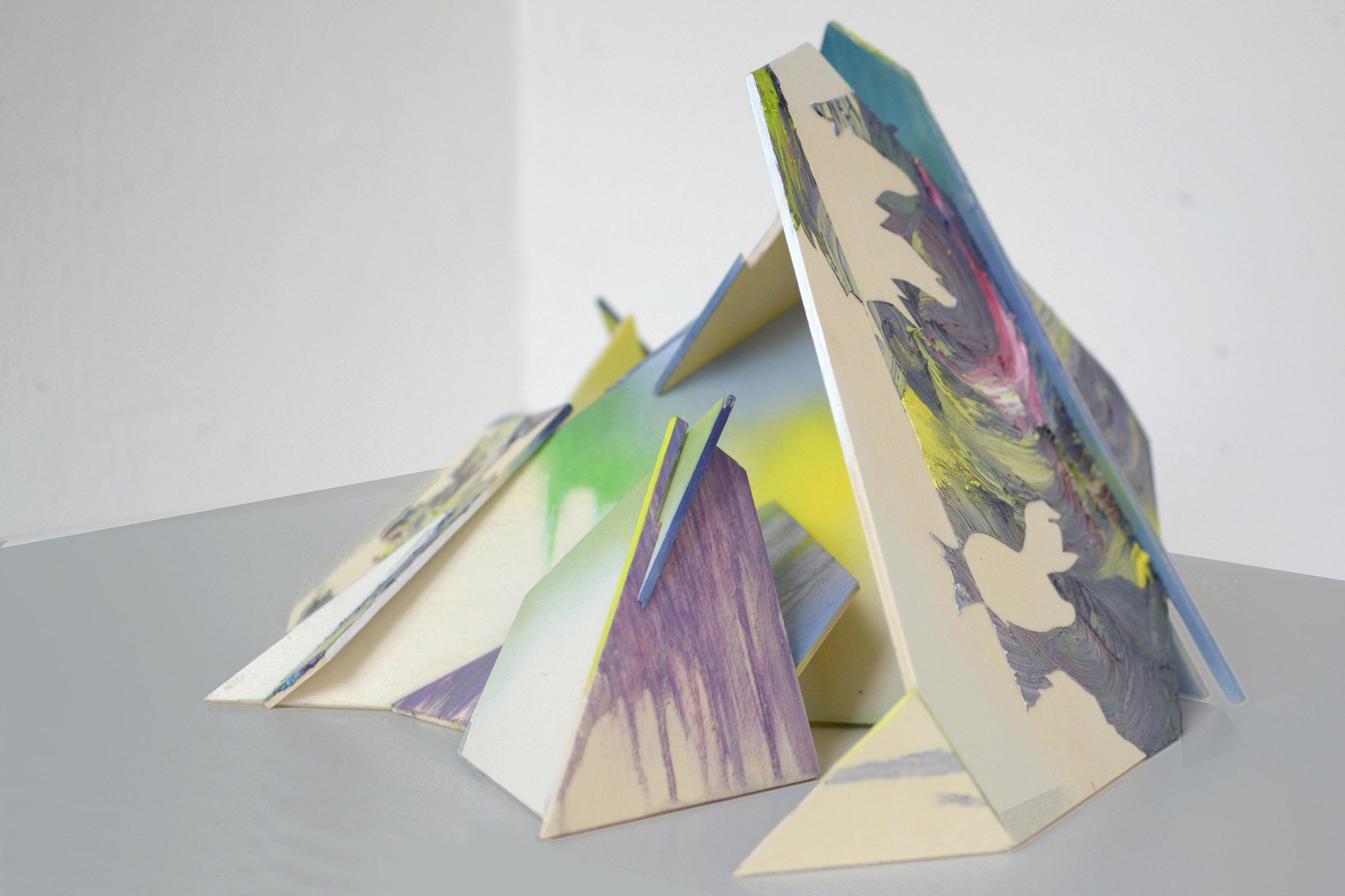 Fluh  30 x 60 x 40 cm mixed media, 2013