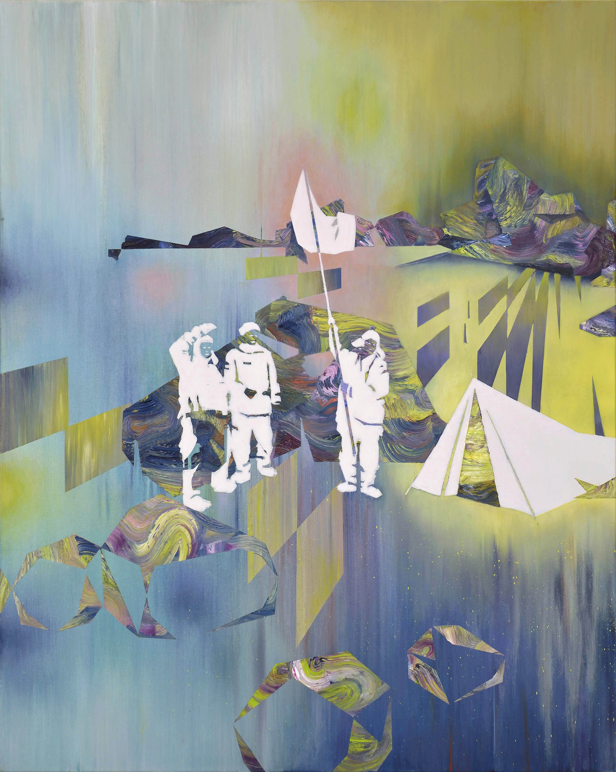 Am Limit  oil on canvas 150 x 120 cm, 2014