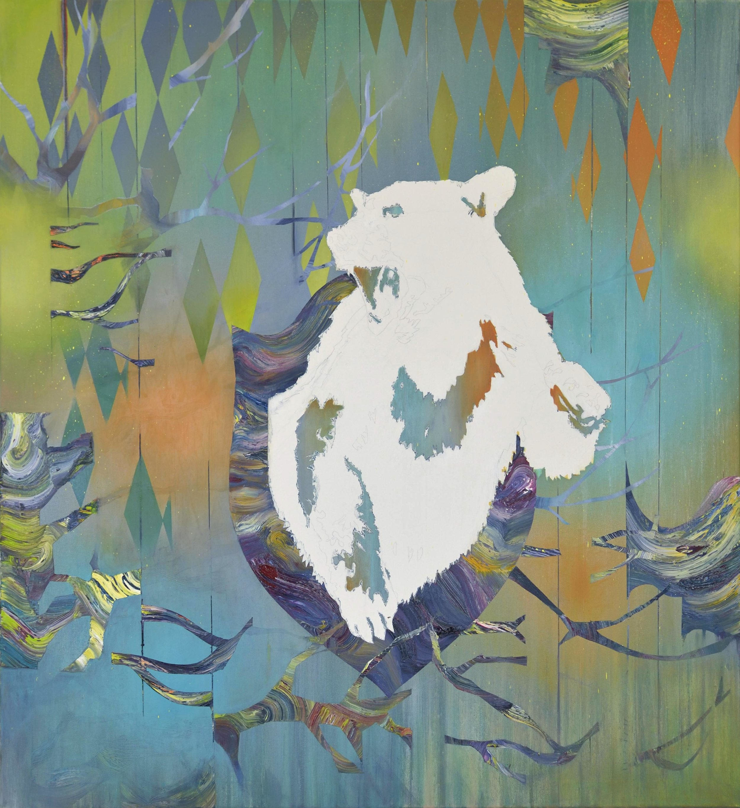 Kodiak  oil on canvas 120 x 110 cm, 2013