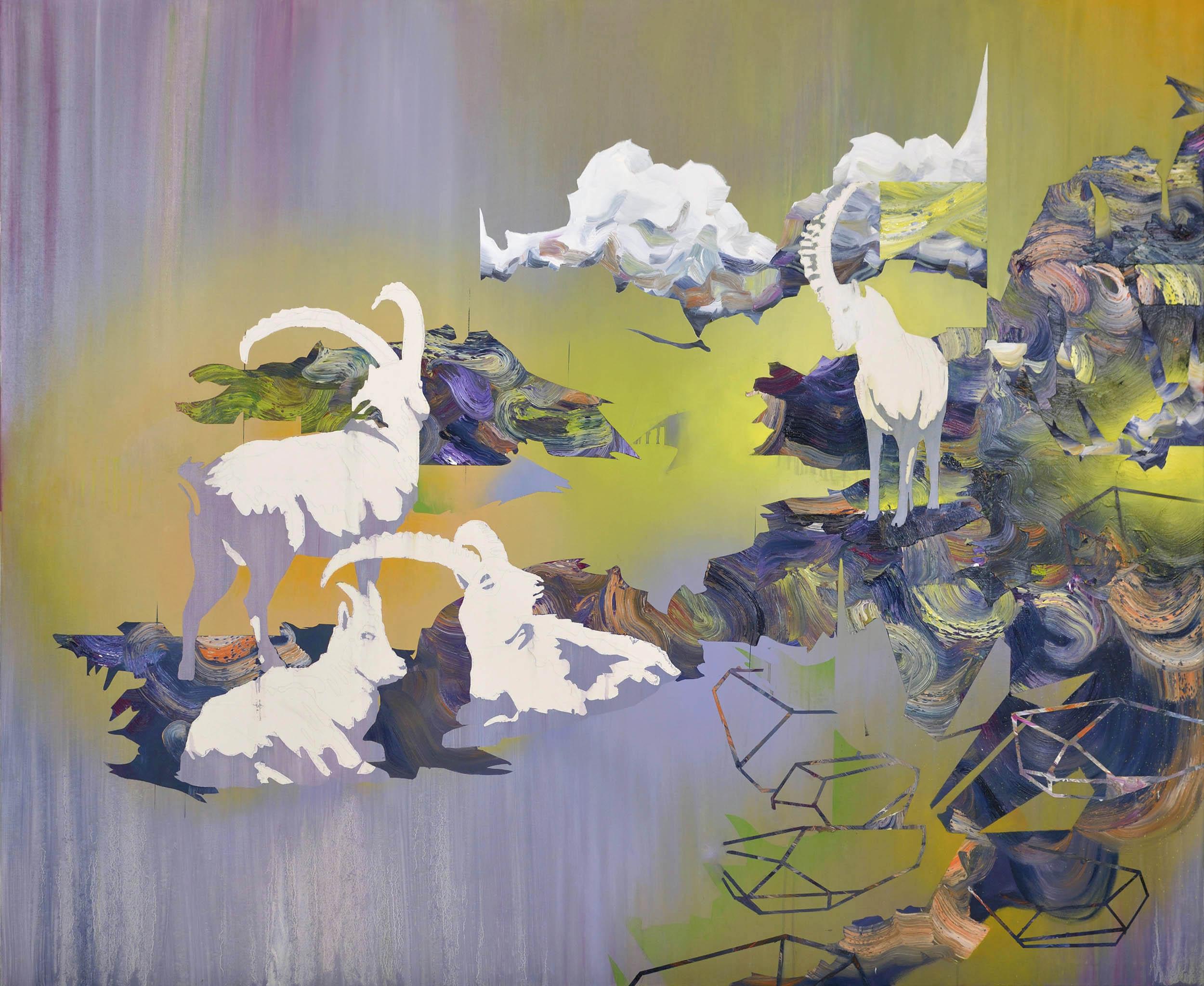 Hornträger  oil on canvas 165 x 200 cm, 2013