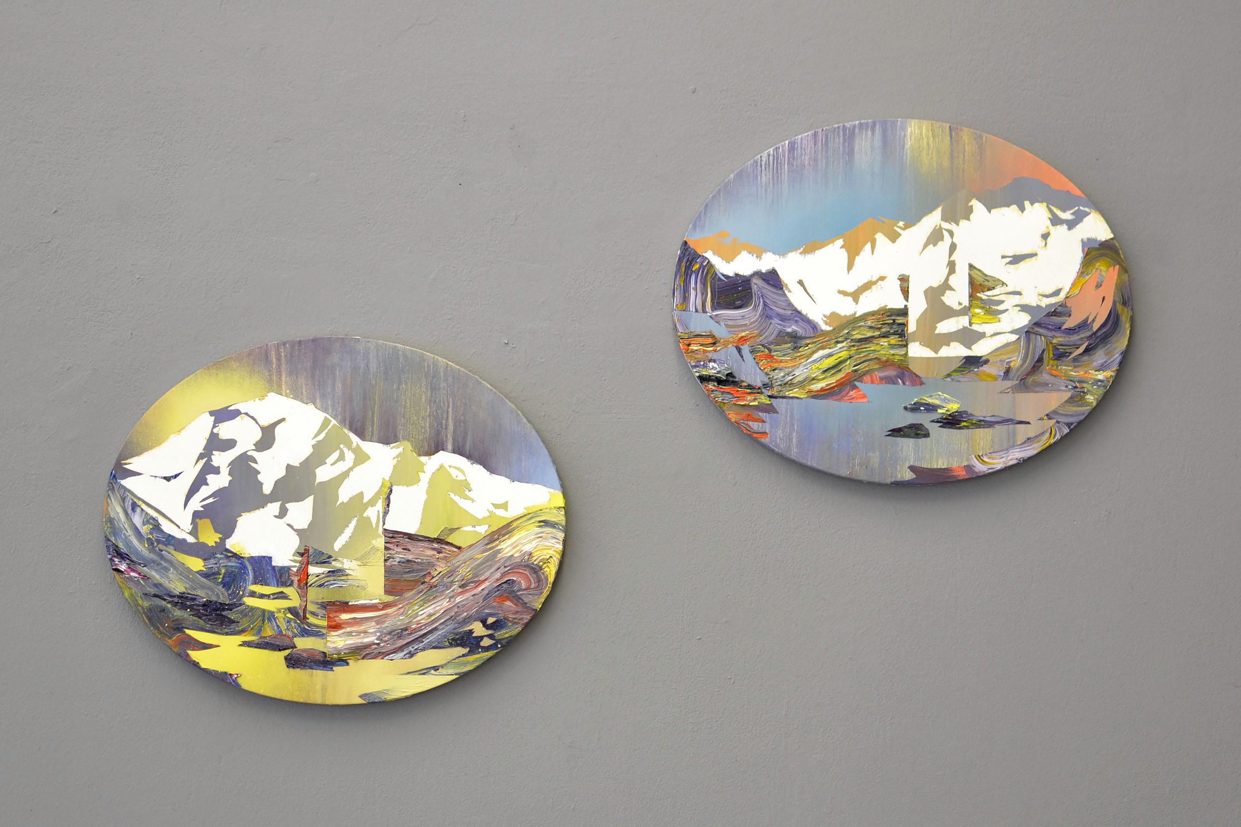 Ferner I und II  oil on canvas 40 x 50 cm, 2013