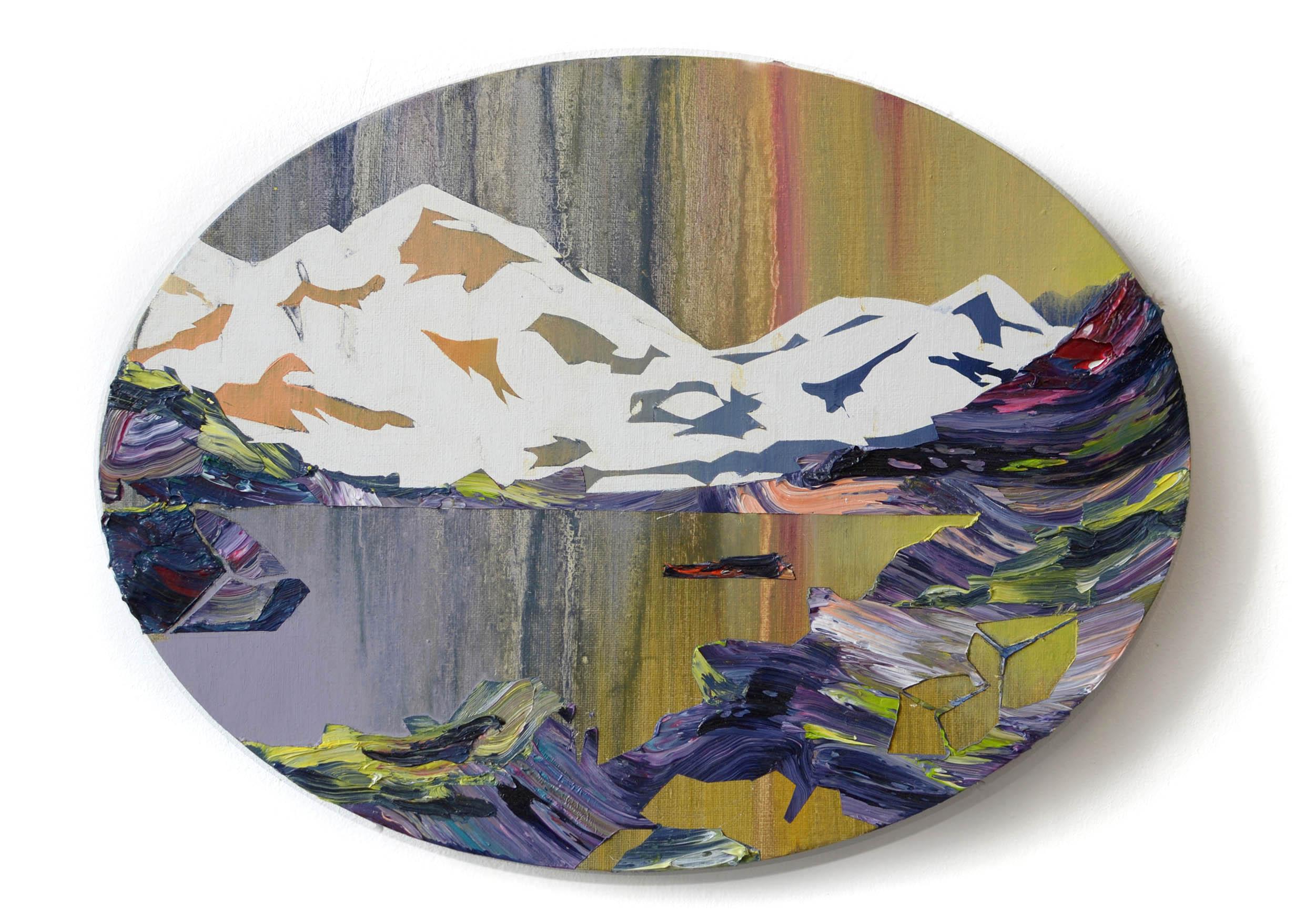 Alpinism XI  oil on cardboard 30 x 40 cm, 2013