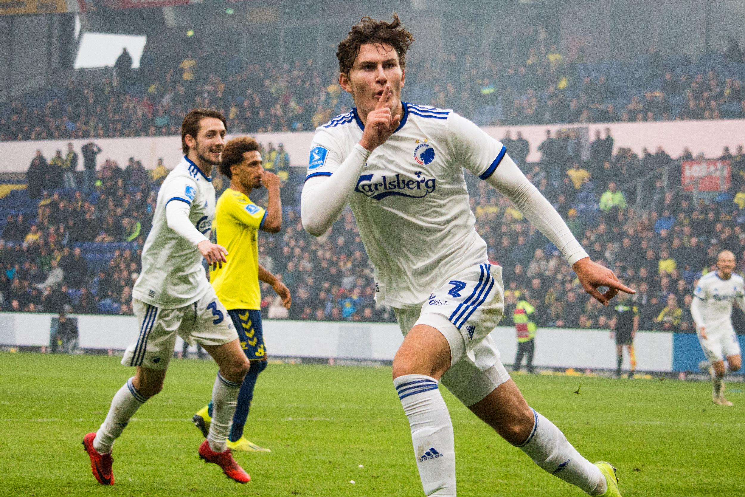 Jonas Wind lukker kæften på Sydsiden. Eftertrykkeligt! Brøndby iF - F.C. København : 0-1. 4. november 2018.