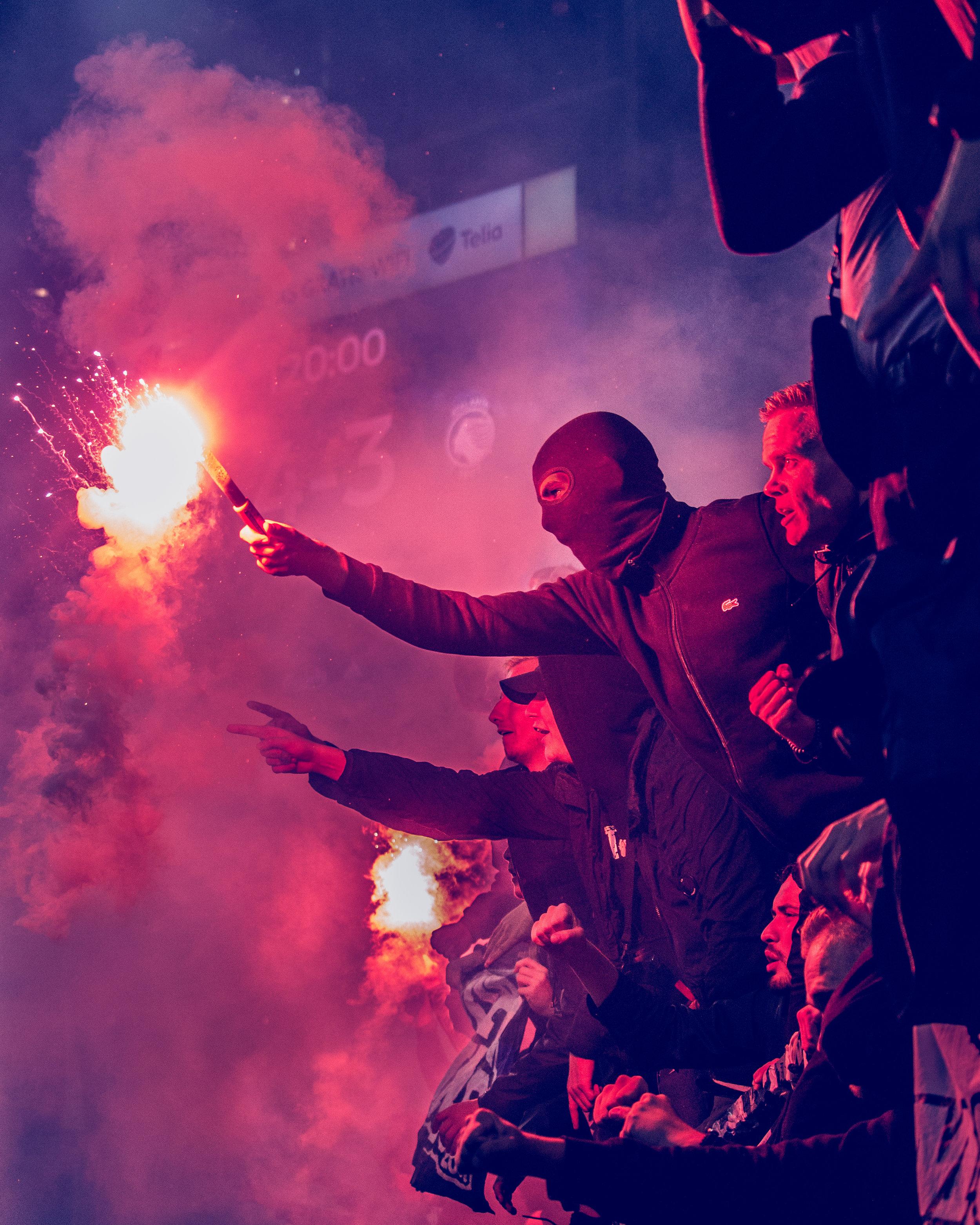 Fans. Ekstase. F.C. København - Atalanta. 30. august 2018.