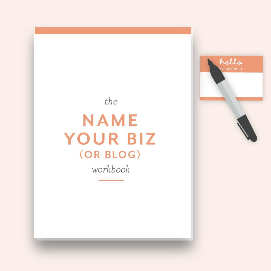 Hellohappen Name Your Biz workbook