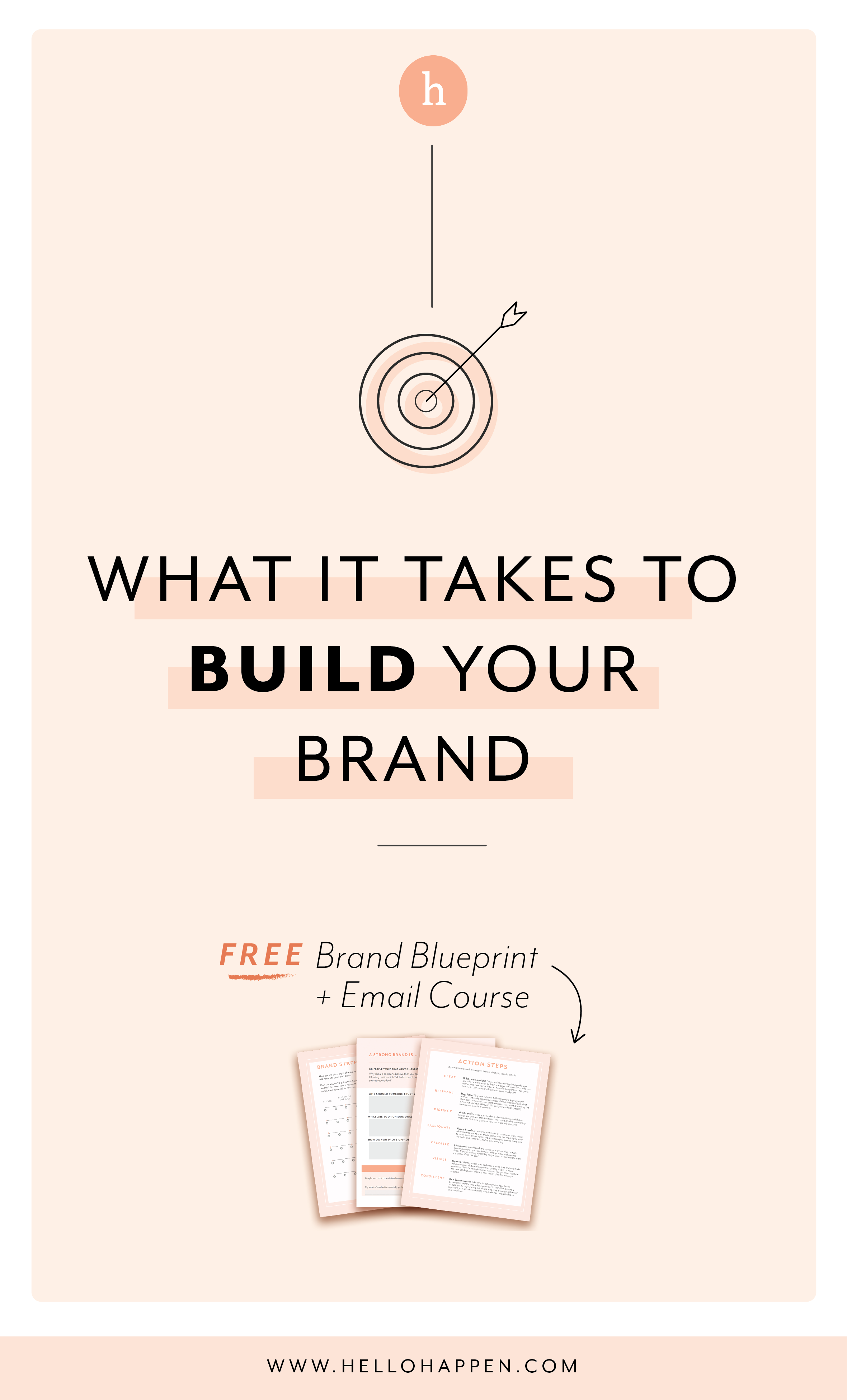 What does it take to build a strong brand? Read the post, plus download the free Brand Blueprint + email course. #brandstrategy // Hellohappen Brand Strategy