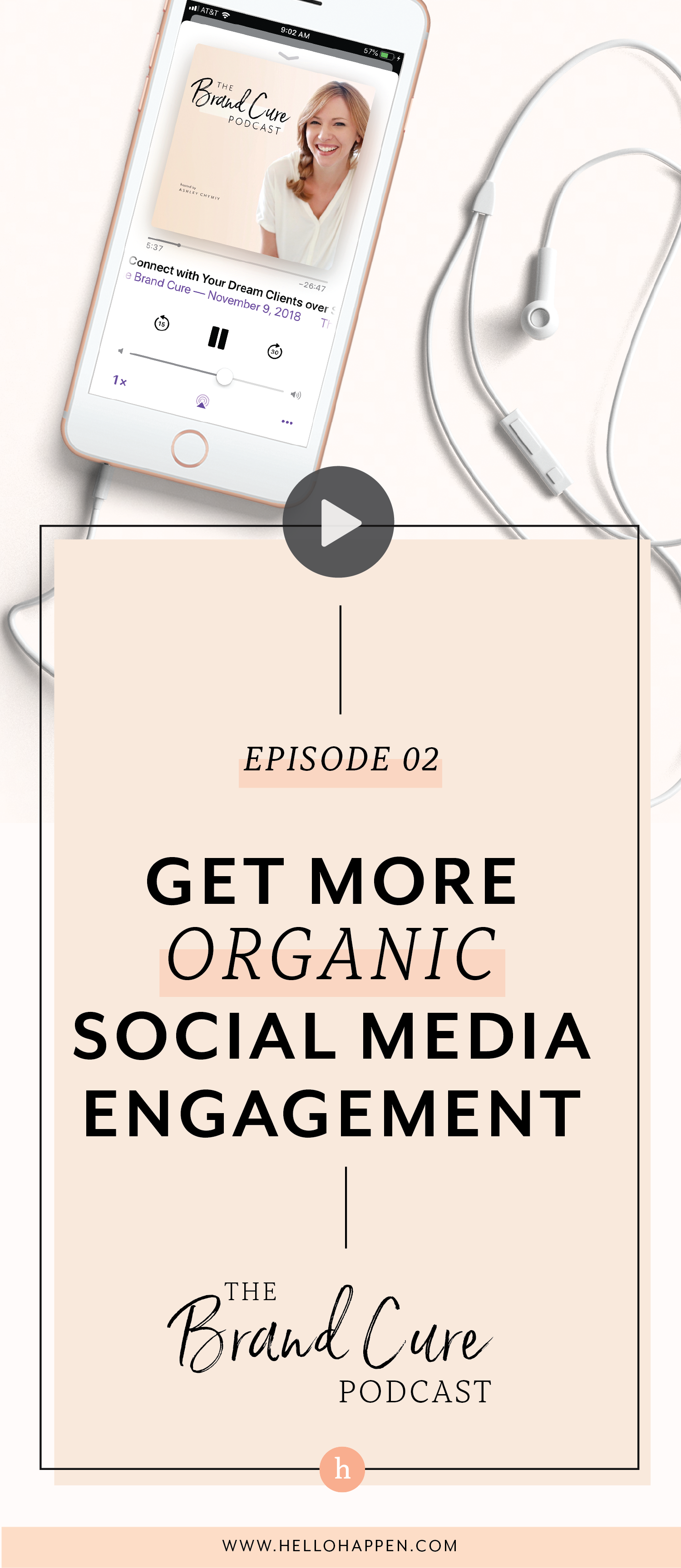 Boost your social media engagement on Instagram, Facebook, or wherever you connect with your audience. Read the post, plus download the free Brand Blueprint + email course. #socialmediastrategy // Hellohappen Brand Strategy