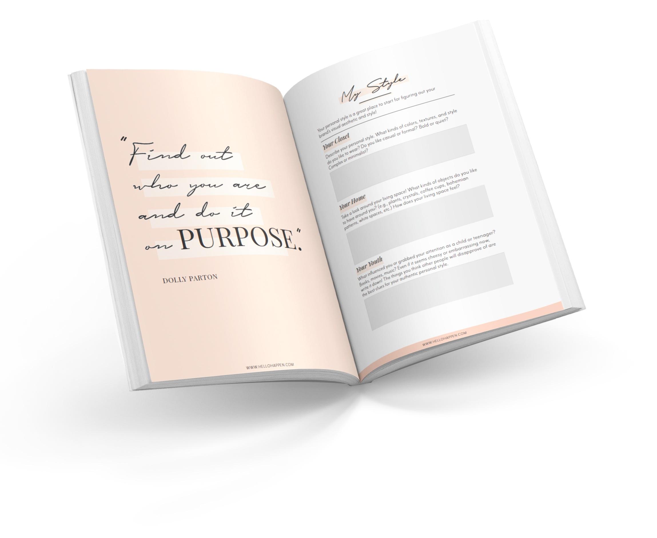 Hellohappen Brand Discovery Workbook