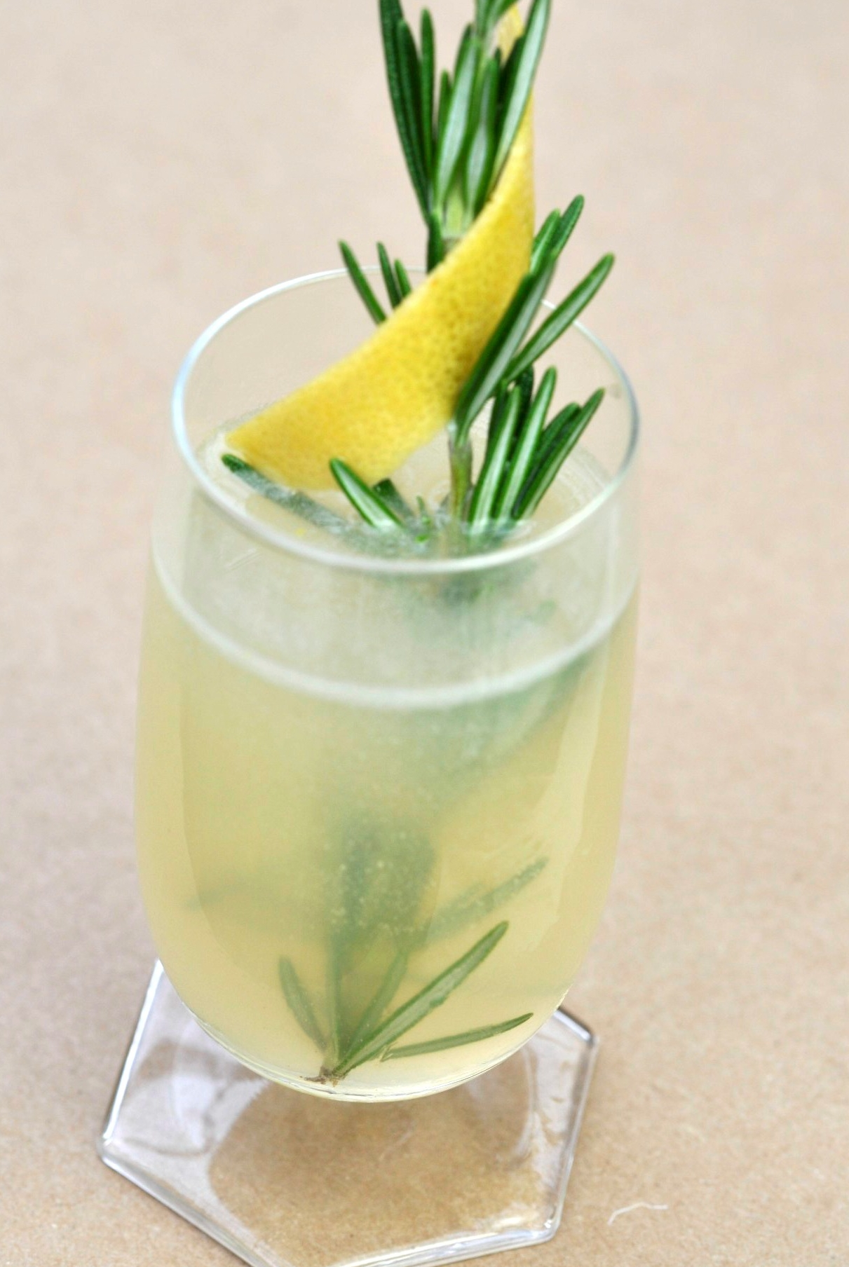 Herbs & Flowers   Syrup: Grapefruit Rosemary  Spirit:Gin, St. Germain