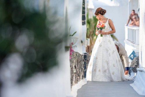 Real award winning luxury destination weddings in Santorini
