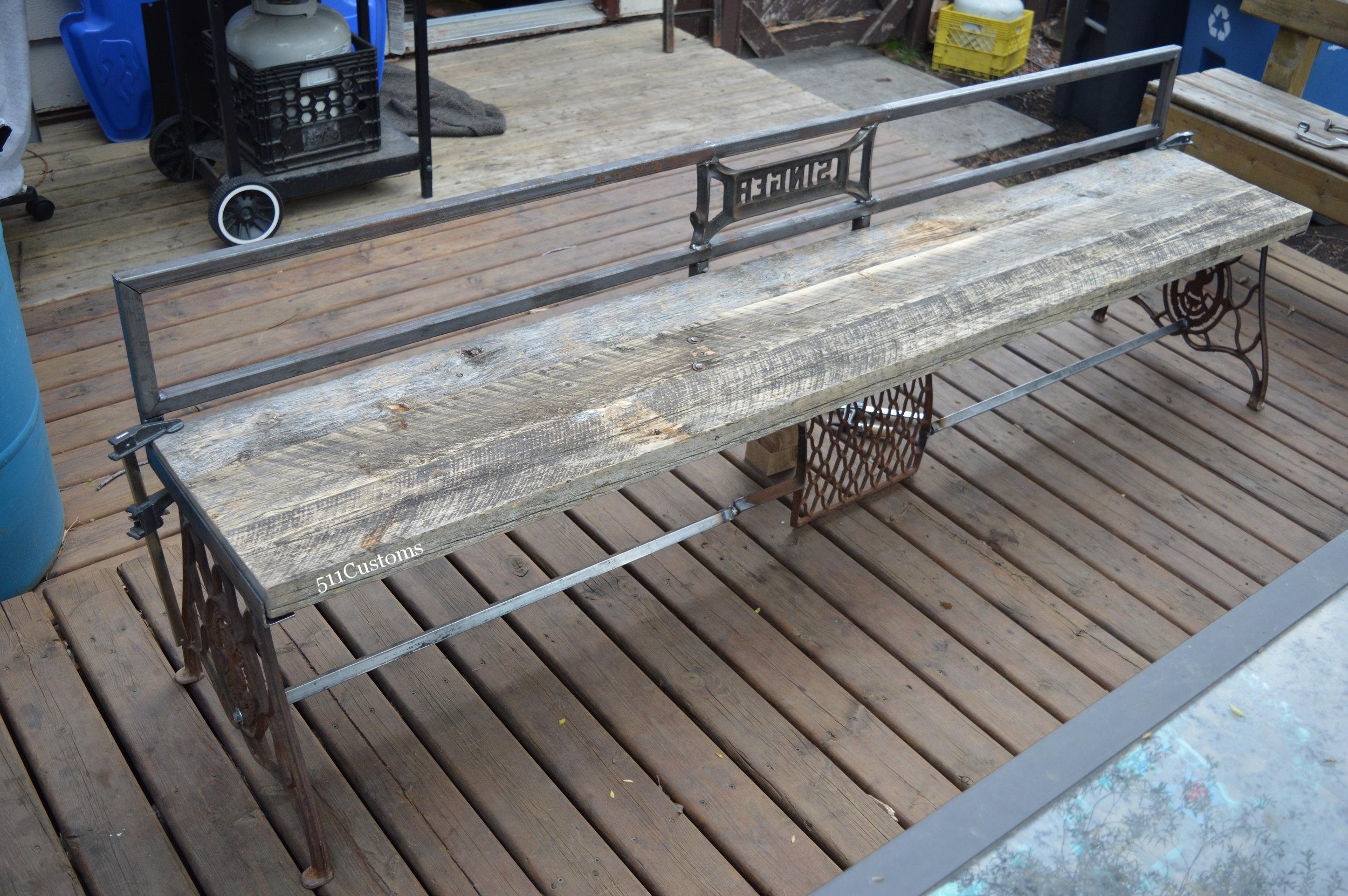 Singer Kitchen Table Bench