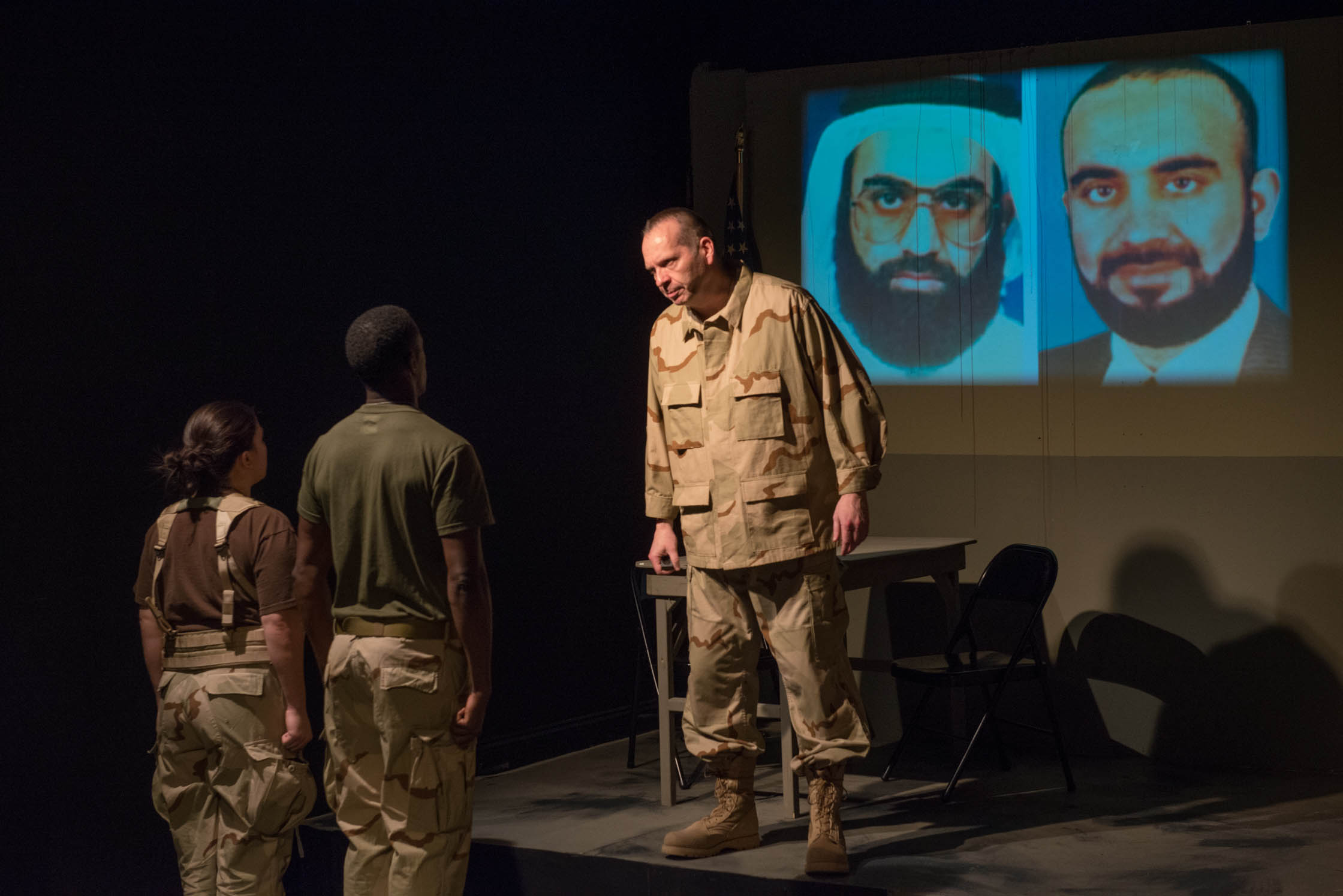 """Tony St. Clair as Col. Lewis in """"Skin for Skin"""" from The Agency Theatre Collective. Photo by Bill Richert."""