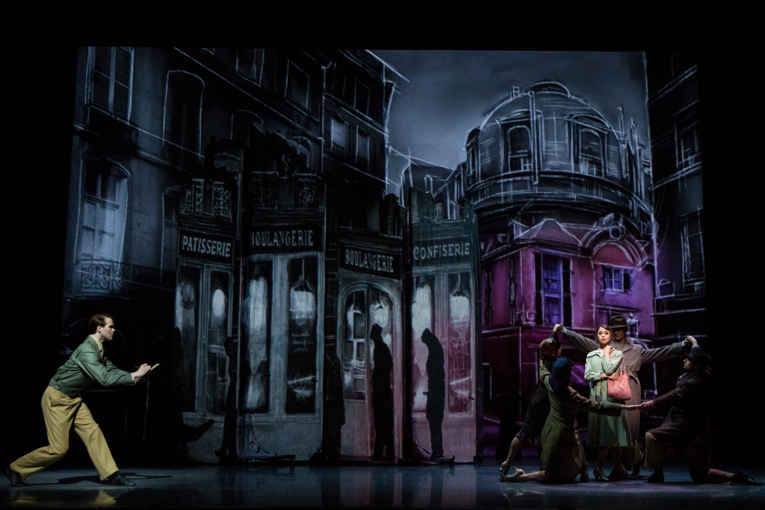 McGee Maddox, Sara Esty and the An American in Paris Touring Company. Photo by Matthew Murphy.