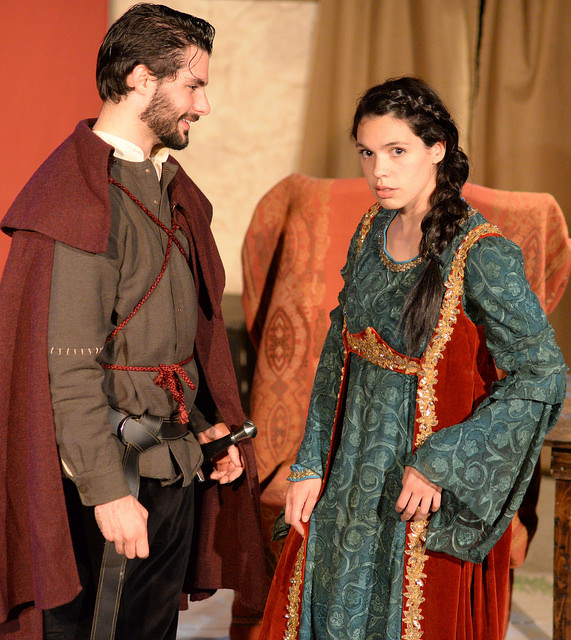 Alex Pappas and Natalie Joyce in Deirdre of the Sorrows