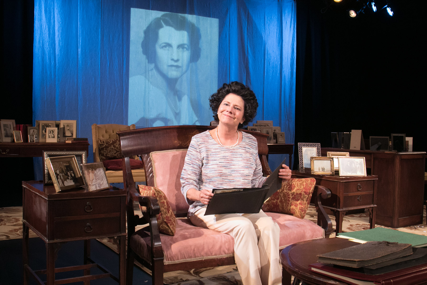 (pictured) Linda Reiter in Greenhouse Theater Center's  ROSE by  Laurence Leamer , directed by  Steve Scott .  Photo by Johnny Knight.