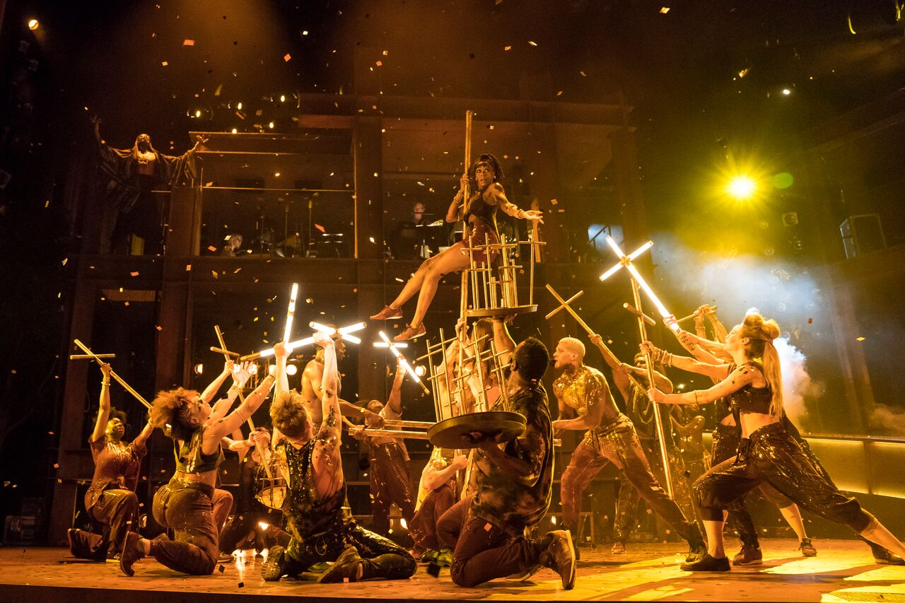 Jesus Christ Superstar at Lyric Opera. Photo by Todd Rosenberg.