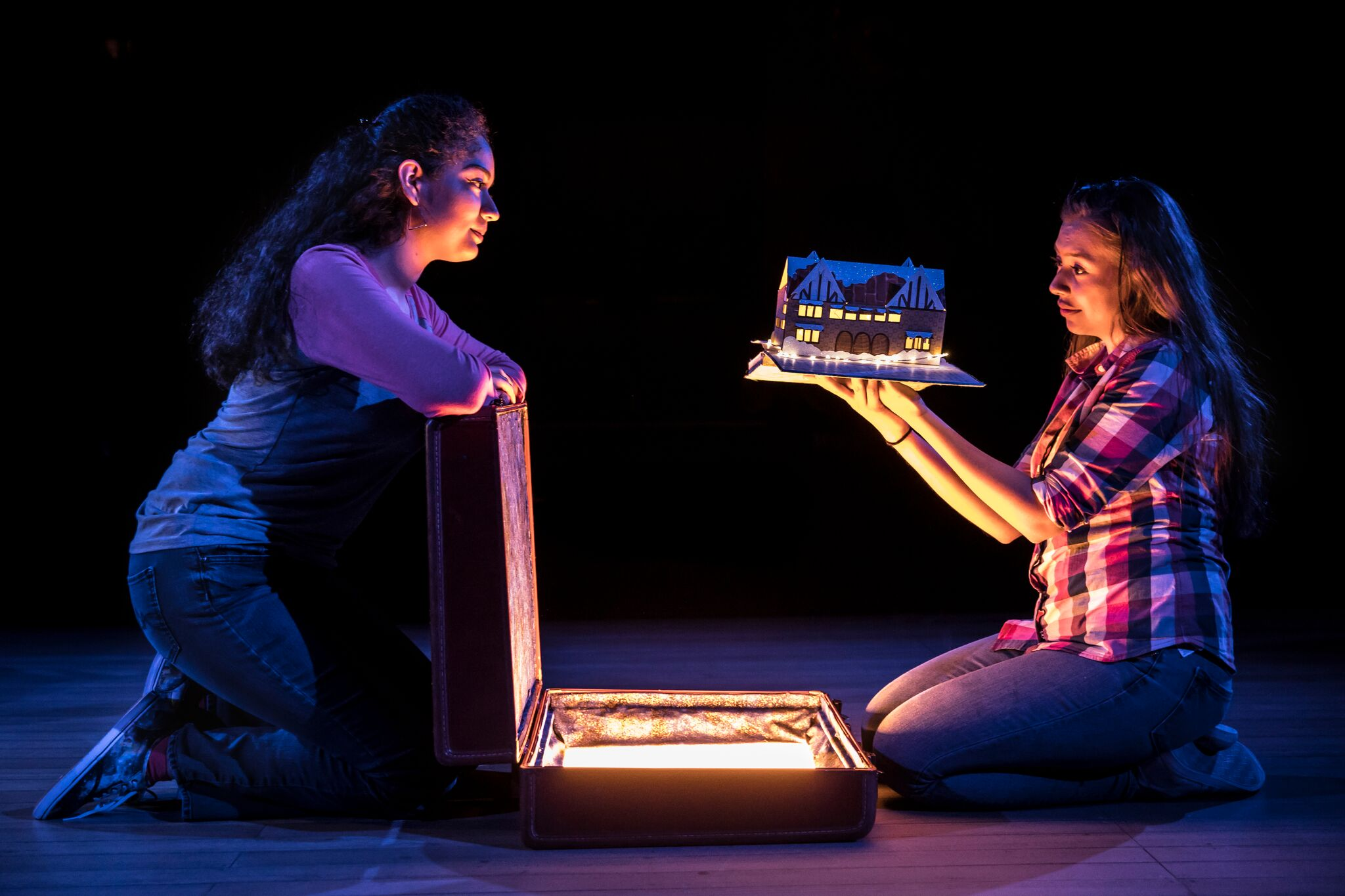 "Mariana Rosas, left, and Jennifer Calderon in ""Ofrenda"" at Albany Park Theater Project. (Photo: Liz Lauren)"