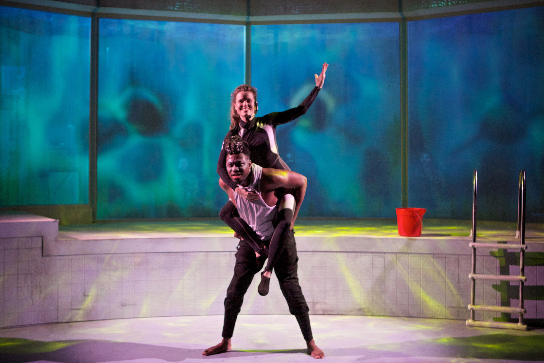 Gregory Geffrard and Sigrid Sutter in TILIKUM. Photo by Jonathan L. Green.