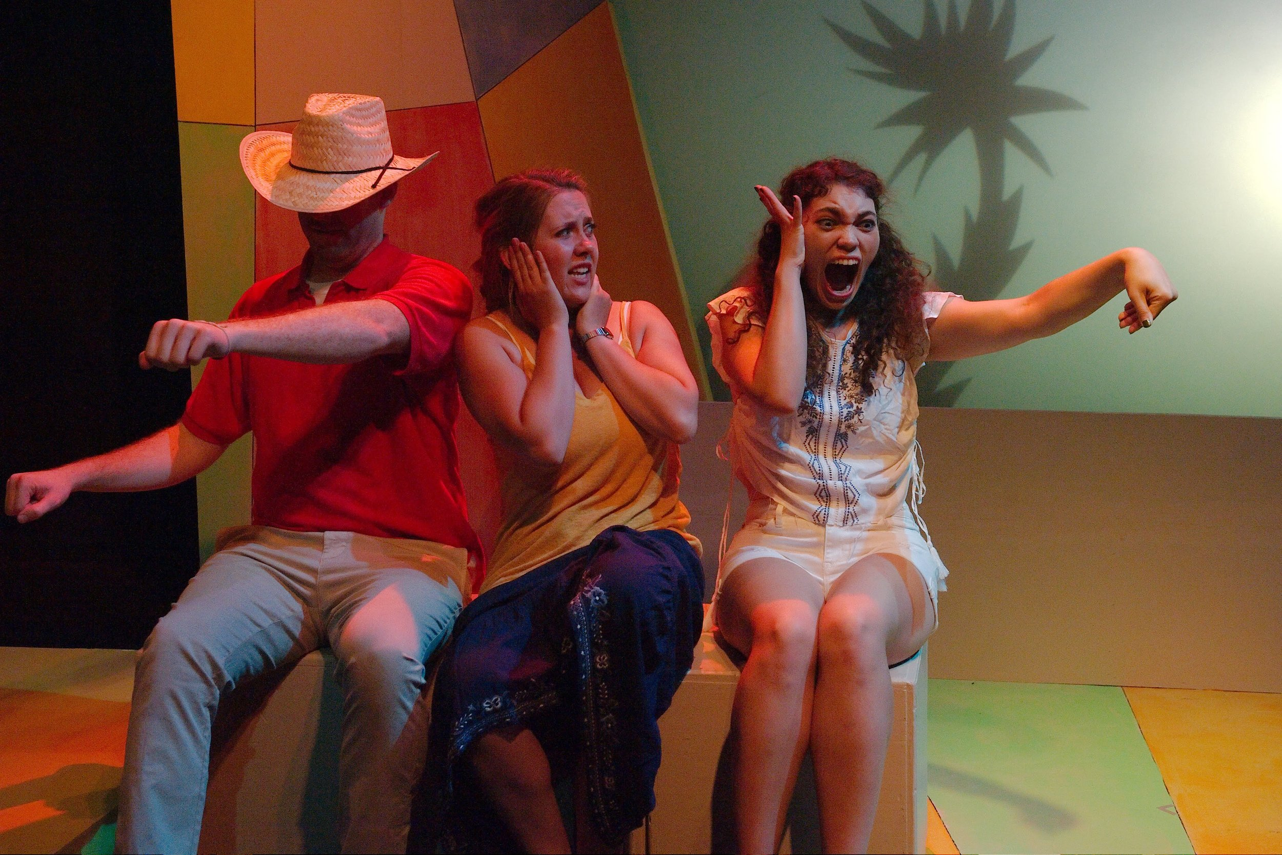 (L to R)Martin Diaz-Valdes;Steph Vondell as Maria;Allyce Carryn Torres as Lola. Photo by Anthony Aicardi.