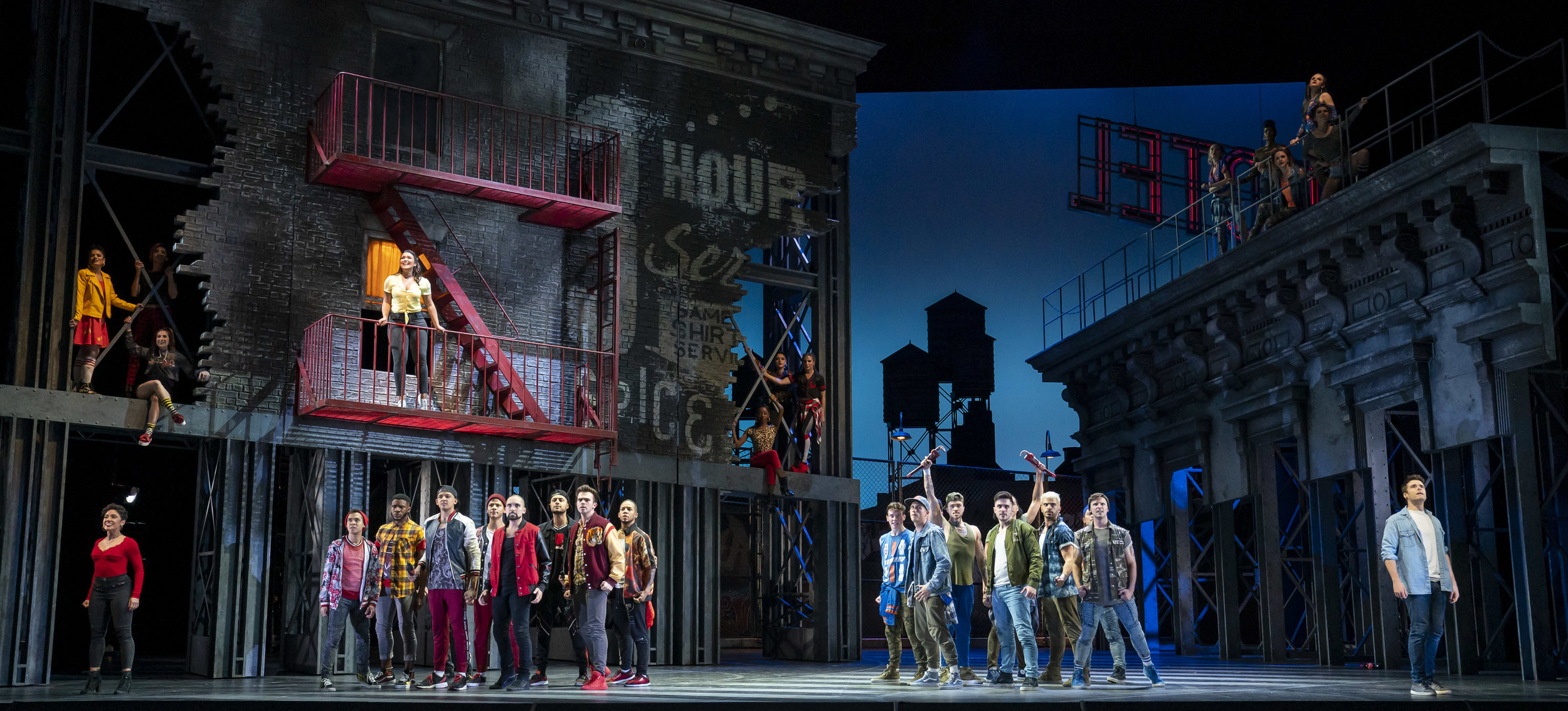Manuel Stark Santos and Brett Thiele and company in WEST SIDE STORY at Lyric Opera of Chicago. Photo by Todd Rosenberg