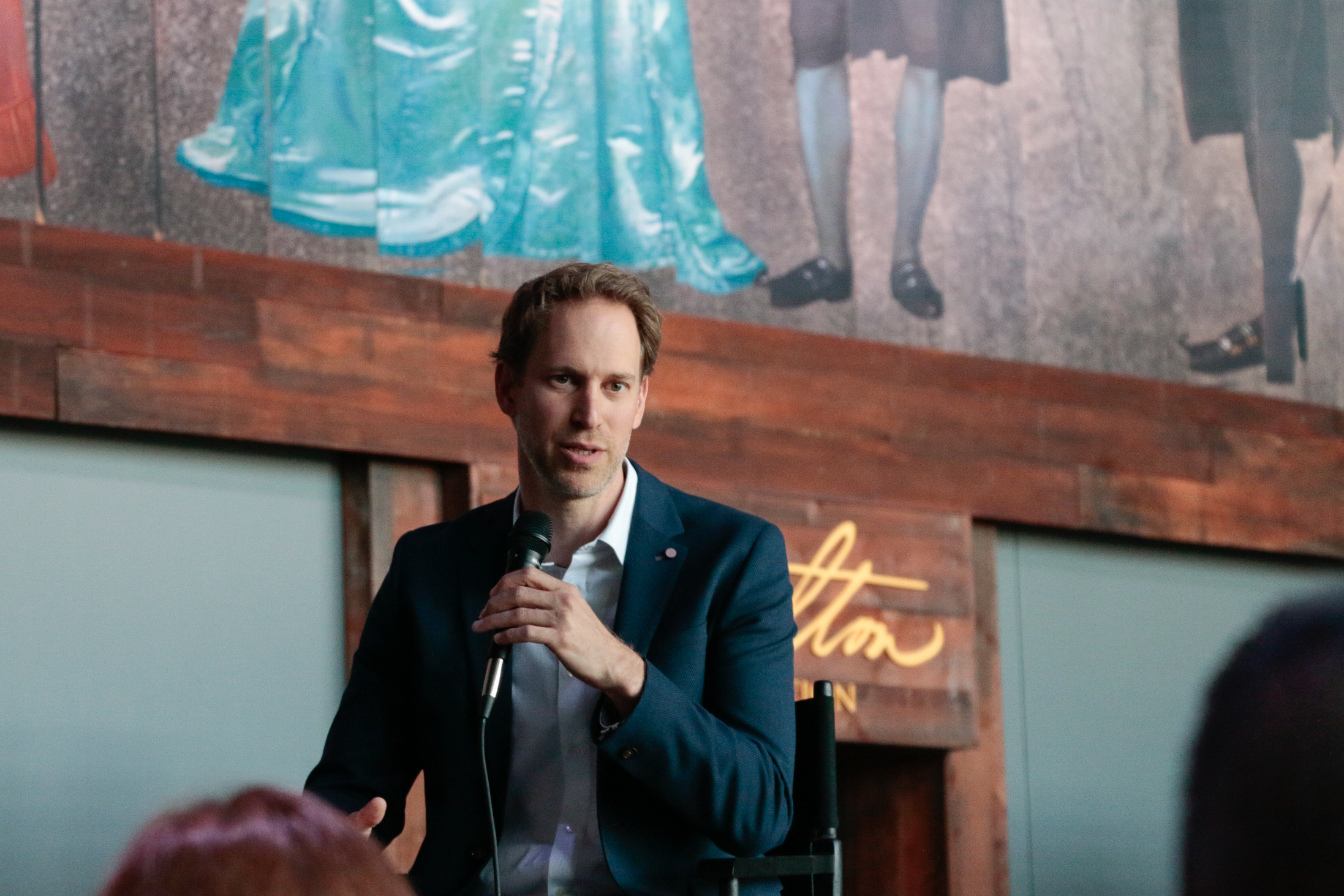 David Korins at the Hamilton Exhibition Press Conference, April 26th, 2019. Photo by Mary Crylen.