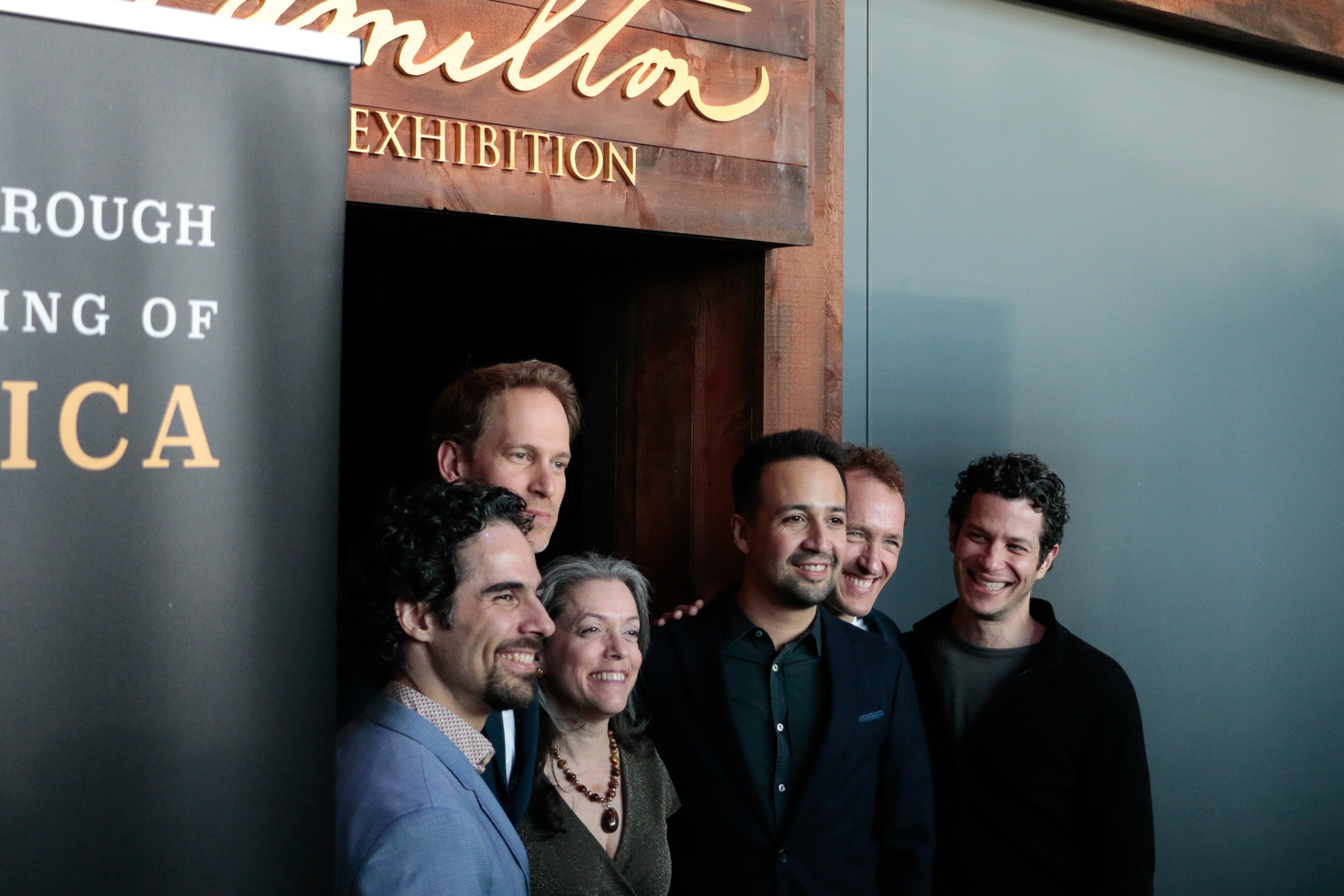The creative team at the Hamilton Exhibition Ribbon Cutting, April 26th, 2019. Photo by Mary Crylen.
