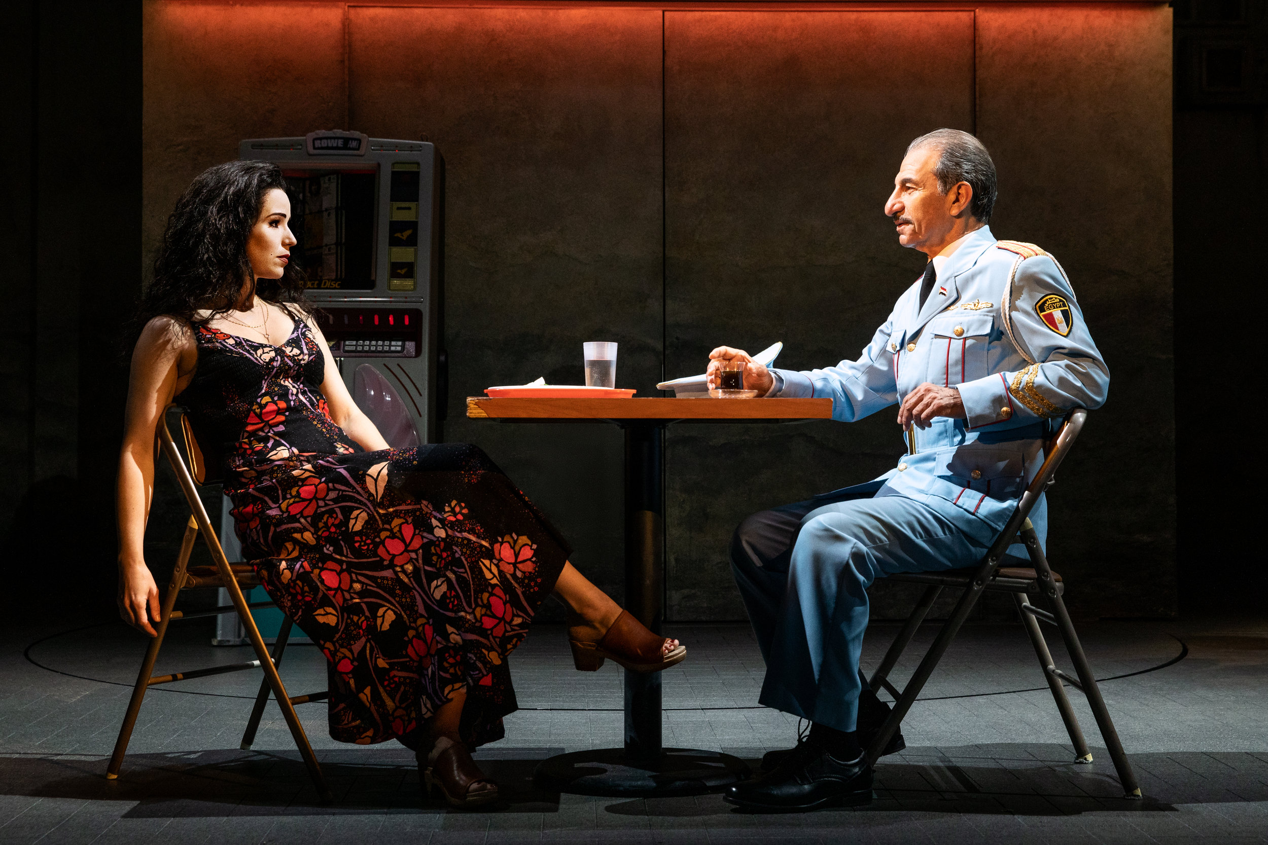 Chilina Kennedy & Sasson Gabay in The Band's Visit. Photo by Matthew Murphy