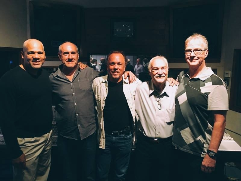 Here is a picture from last night, (left to right) Tony Shepperd, me, Dusty Wakeman, Pete Montessi, Peter Doell at the •ADesigns• release event for the Mix Factory that I designed for Pate and Tony.jpg