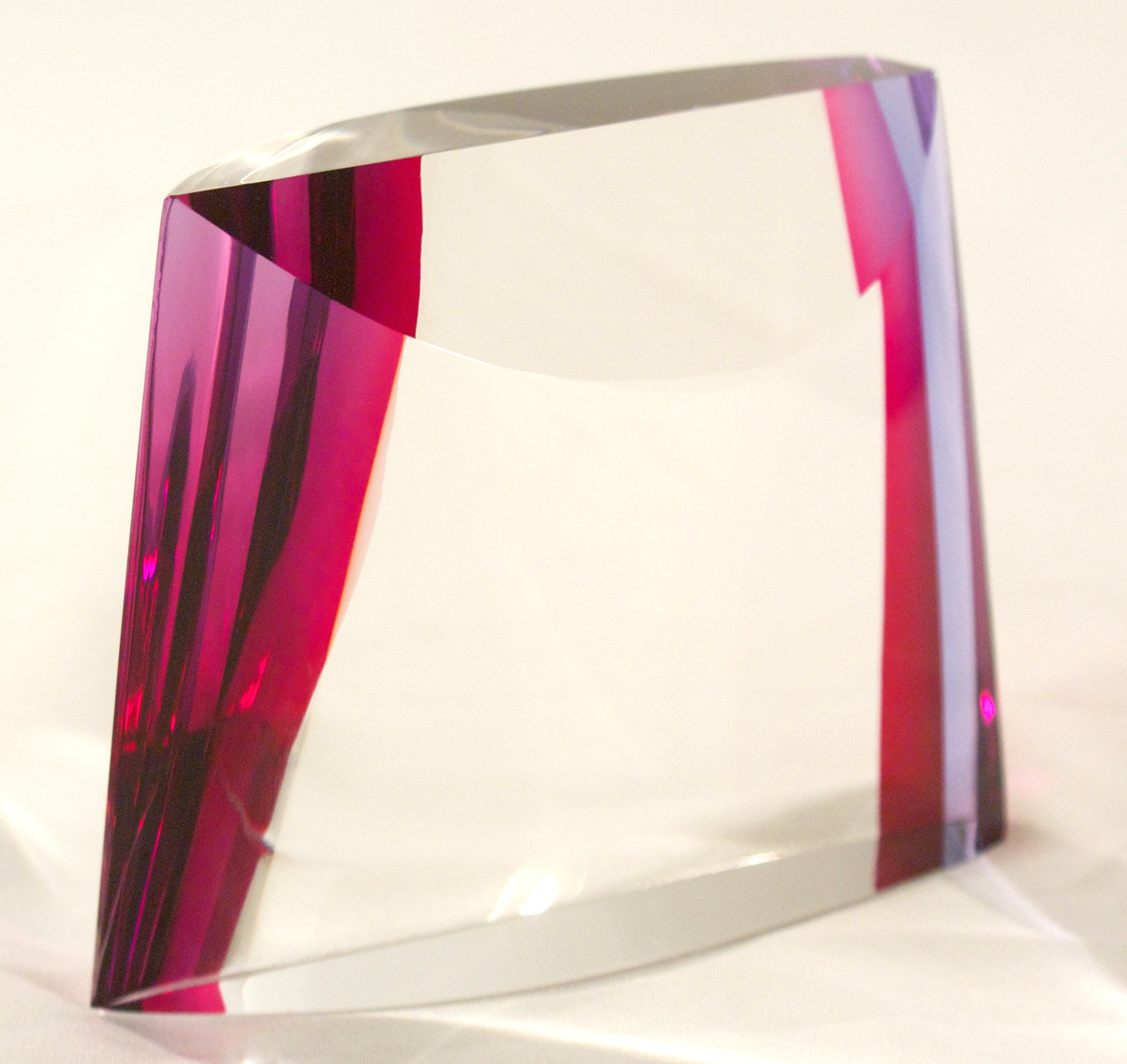 cold-worked optical glass  assembled  color is in the epoxy  2014  artist's collection