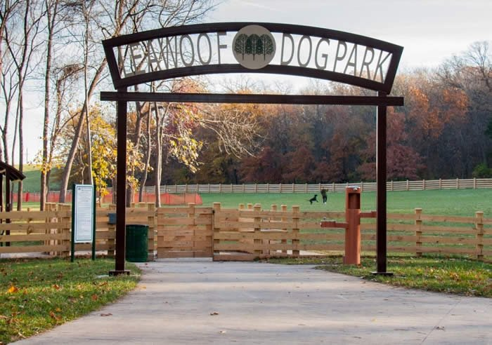 Leawoof Dog Park - A dog's park essentials are probably pretty reasonable: grass, smells, room to roam. Leawoof Dog Park meets all of those requirements in addition to two large fenced areas, a well-kempt terrain, a spacey agility course, benches and a water fountain to help maintain playful pups. Leawoof offers a pleasant experience for both dogs and their owners alike! This has become a frequent favorite for us, rain or shine.