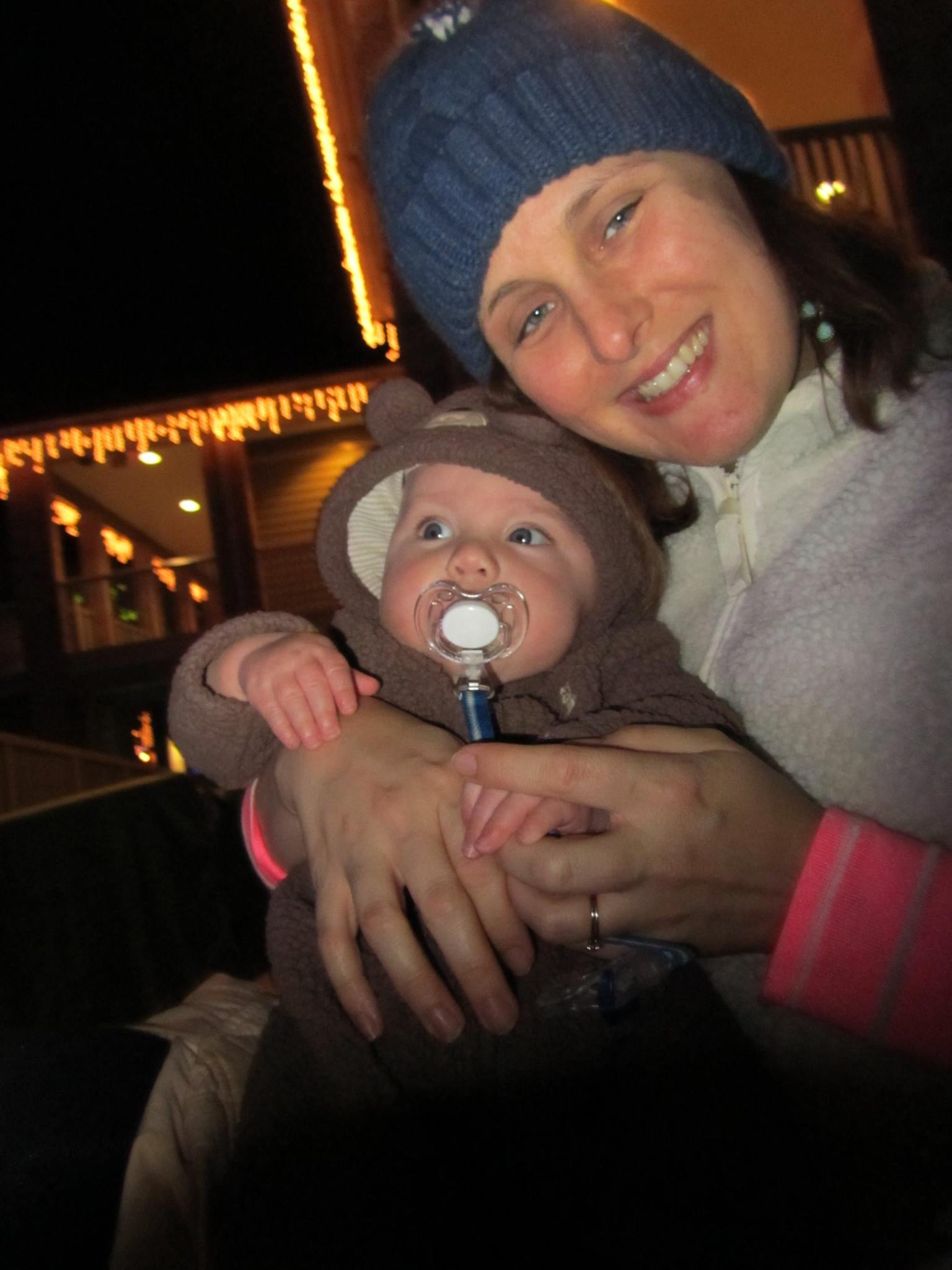 Amber and her son Evan in December 2014