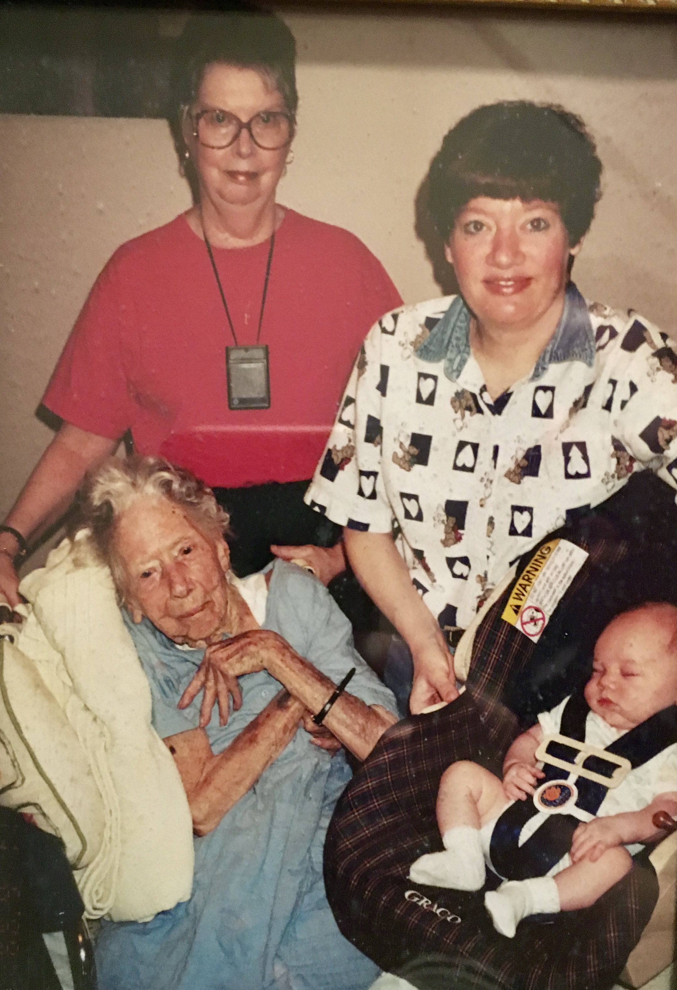 Ruth and Andrew are pictured with Helena Bradford and Ruth's grandmother.