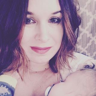 Amanda and her son, Cole, when he was a few months old.